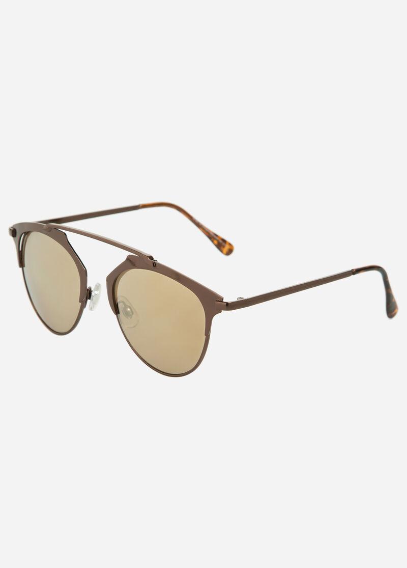 Rimless Clubmaster Glasses : Buy Semi-Rimless Clubmaster Sunglasses Bronze - Accessories