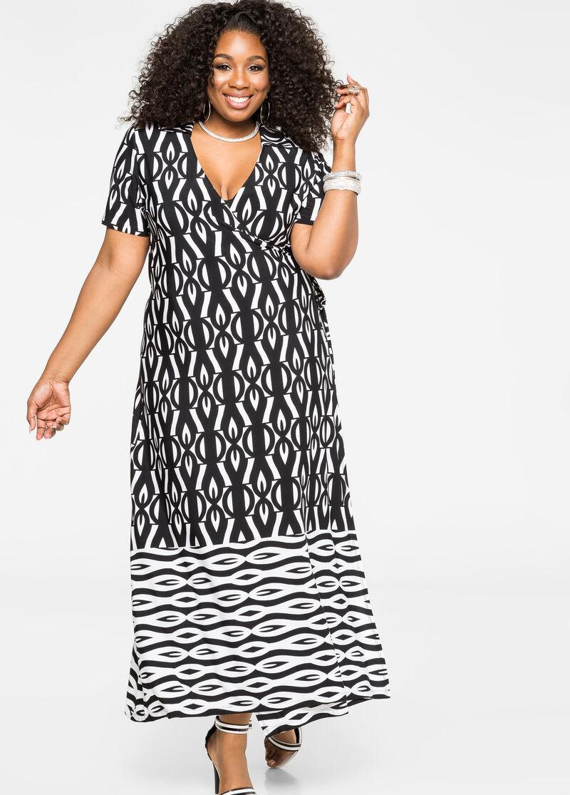 Buy Plus Size Maxi Dress in White - Ashley Stewart