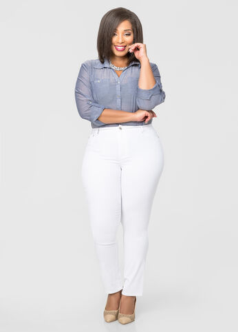 White Skinny Jeans For Plus Size