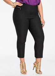 Deluxe Pull On Cropped Pant