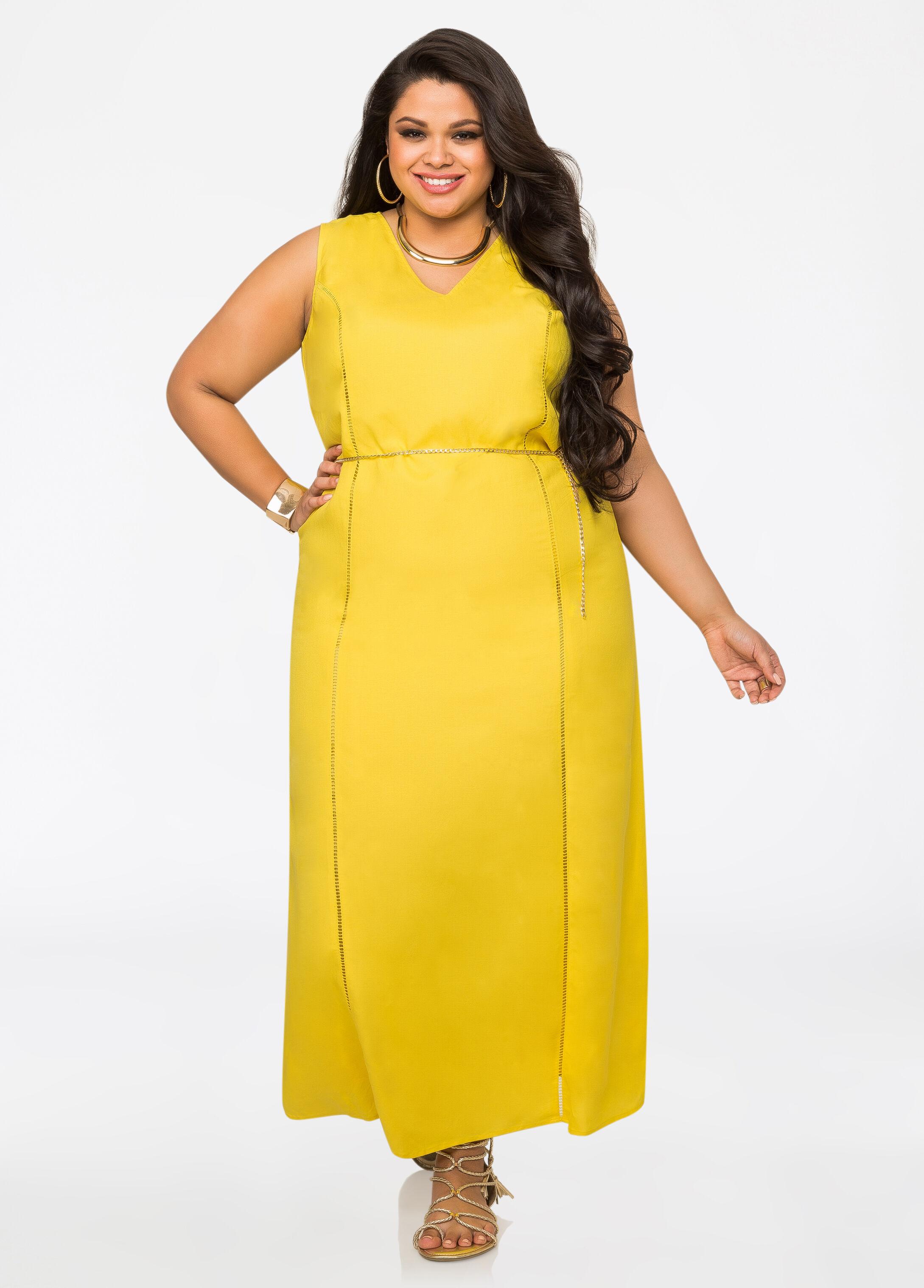 Yellow Linen Maxi Dress