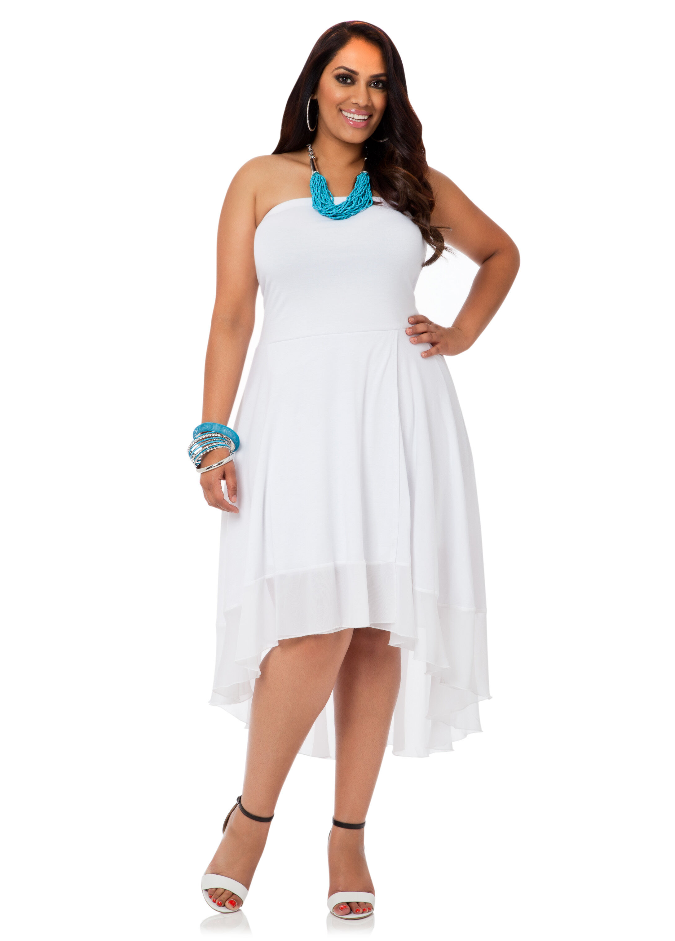 White Strapless Tube Dress HwoCHRj5