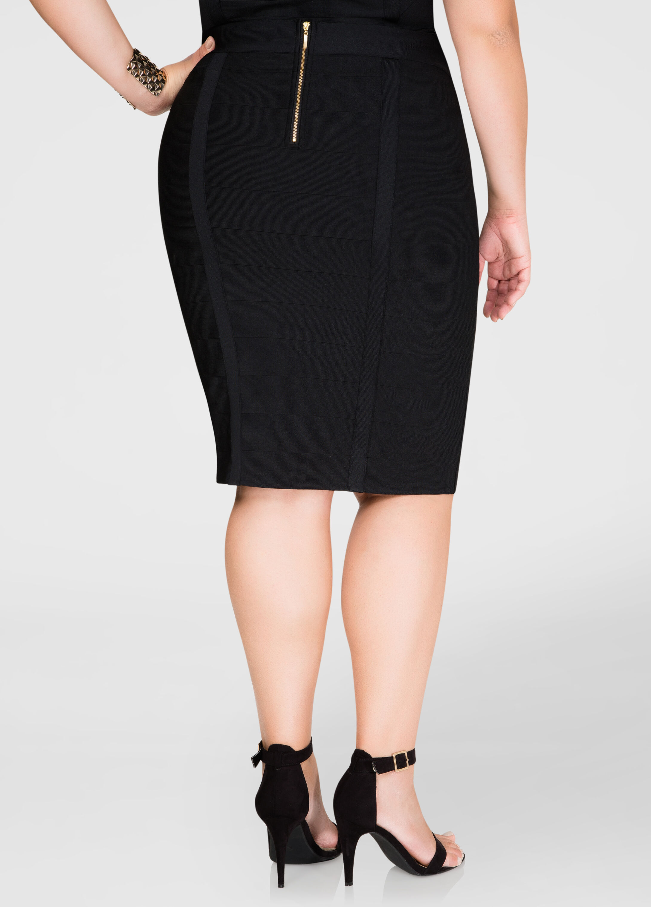 Exposed Zip Bandage Skirt