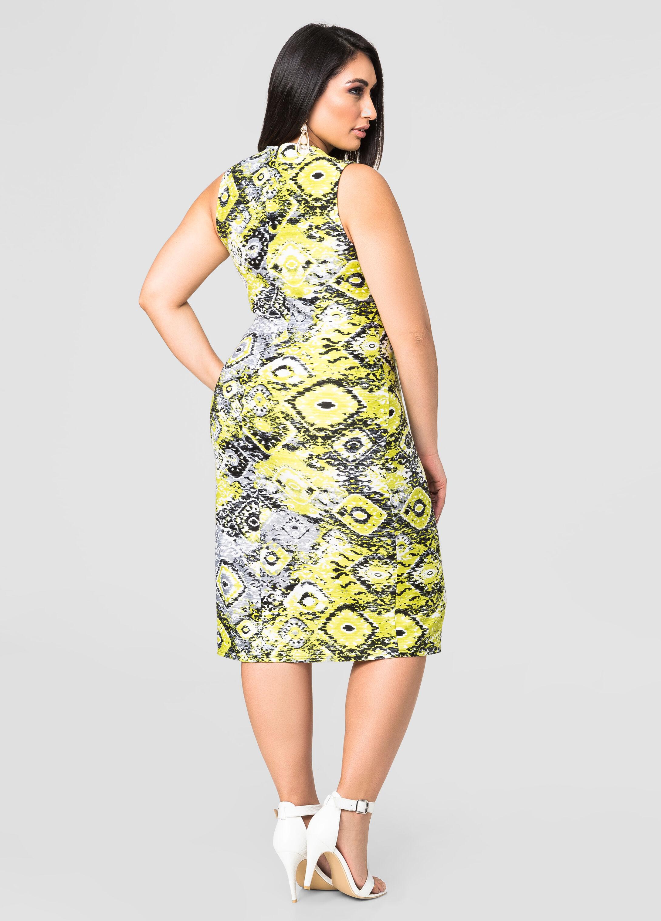 Ikat Scuba Sheath Dress
