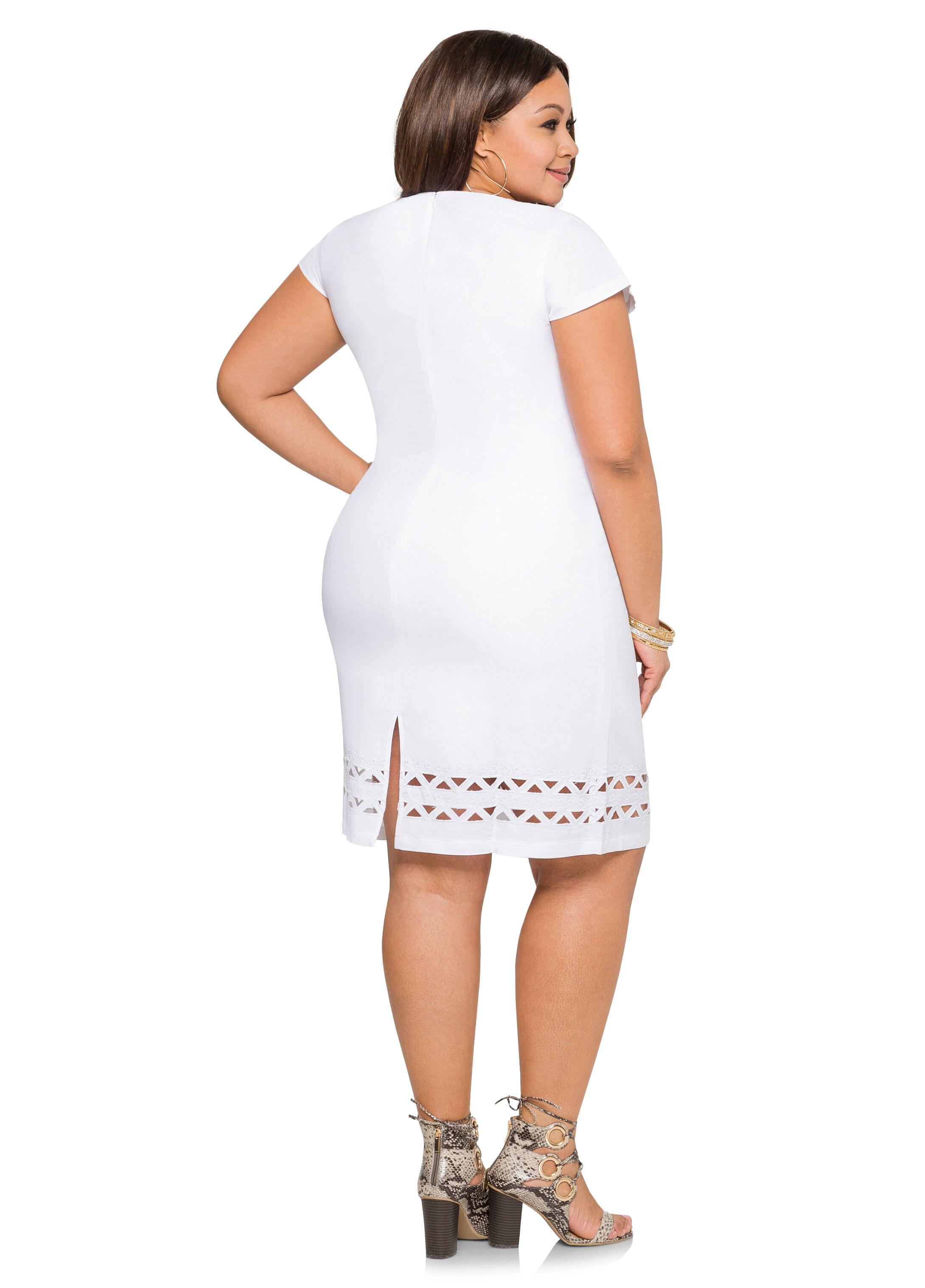 Chainlink Cut-Out Linen Dress