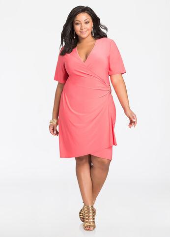 buy coral plus size dresses for women - ashley stewart