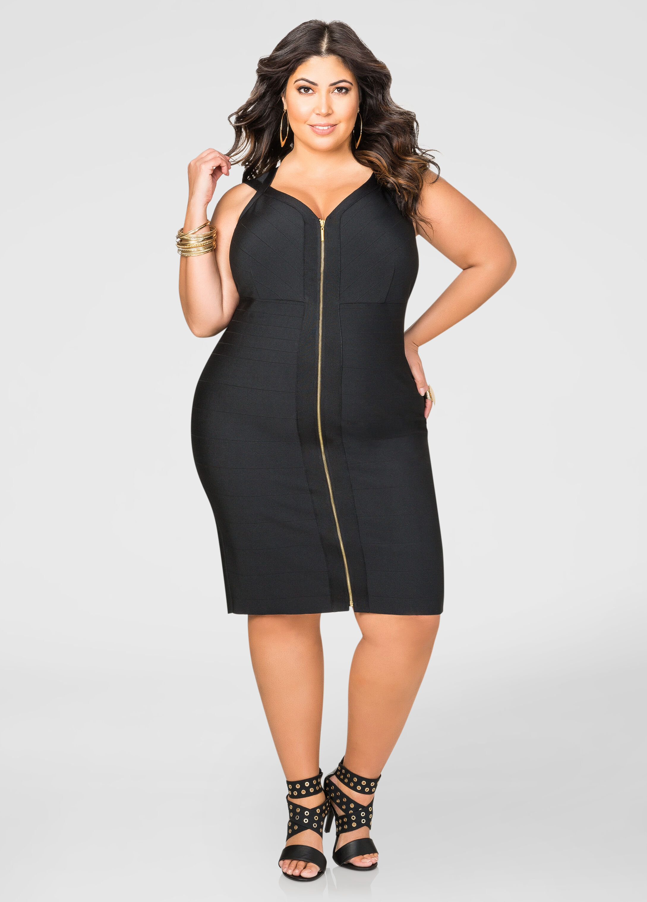 Zip Front Bandage Dress
