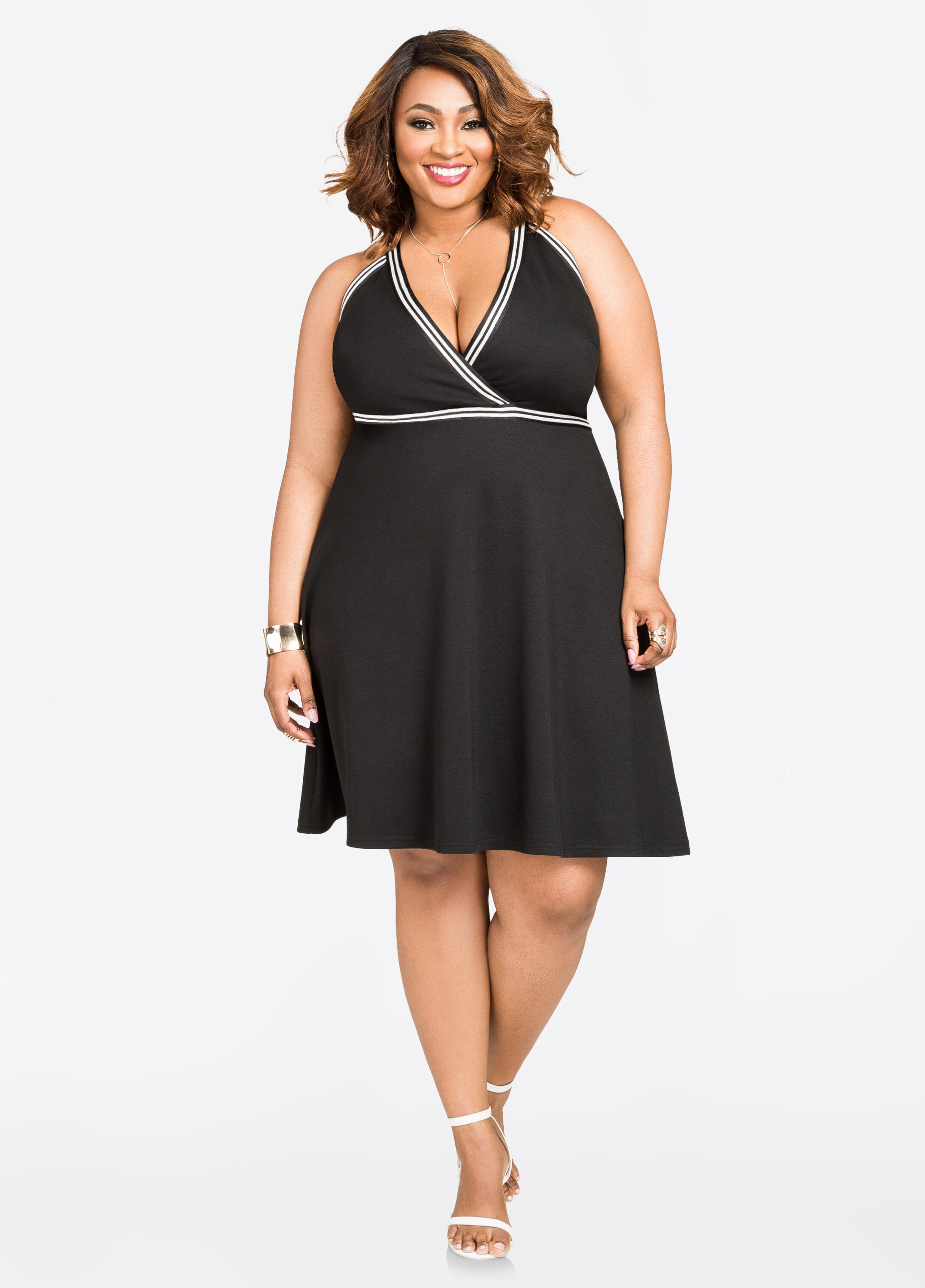 Athletic Stripe Halter Dress
