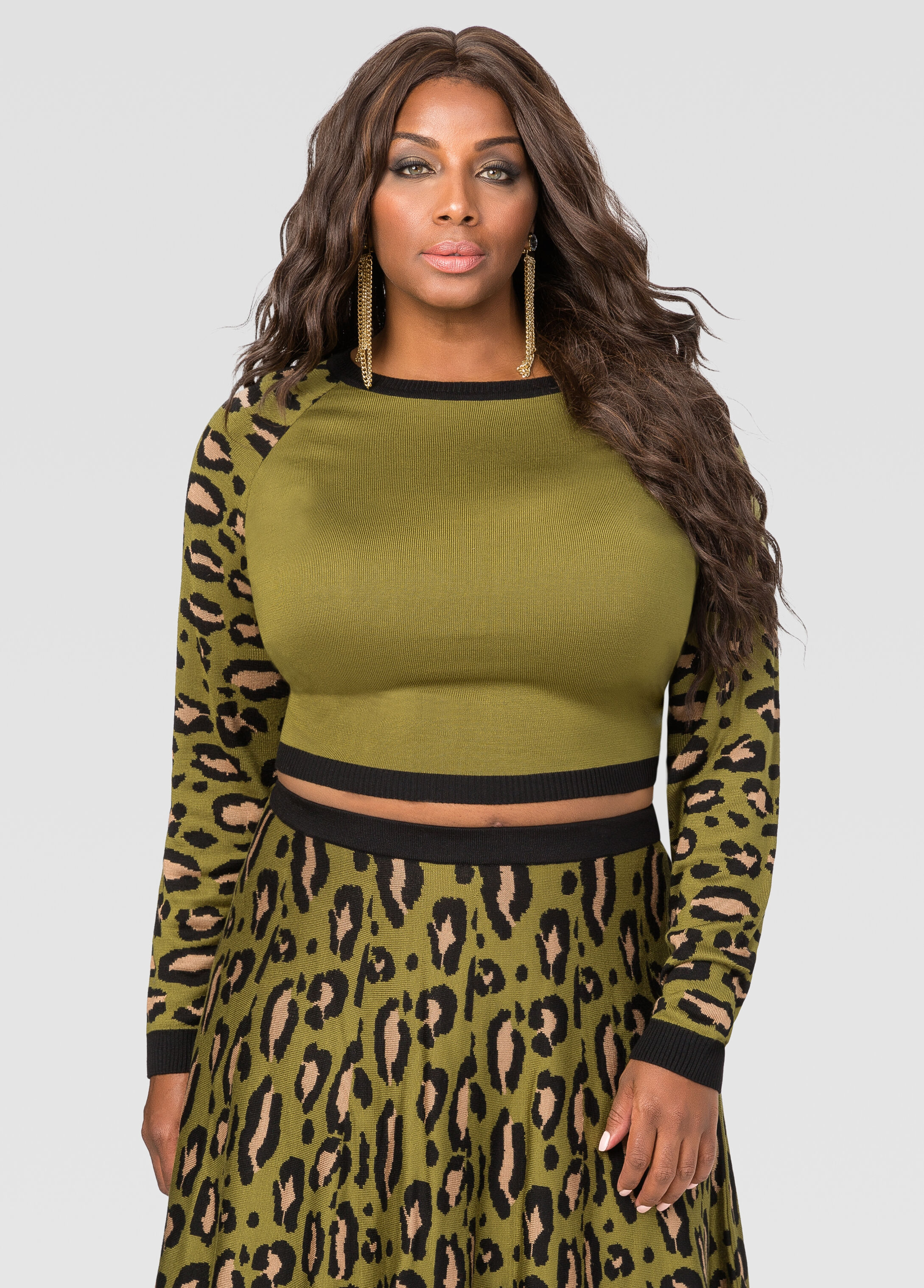 Leopard Crop Top Sweater