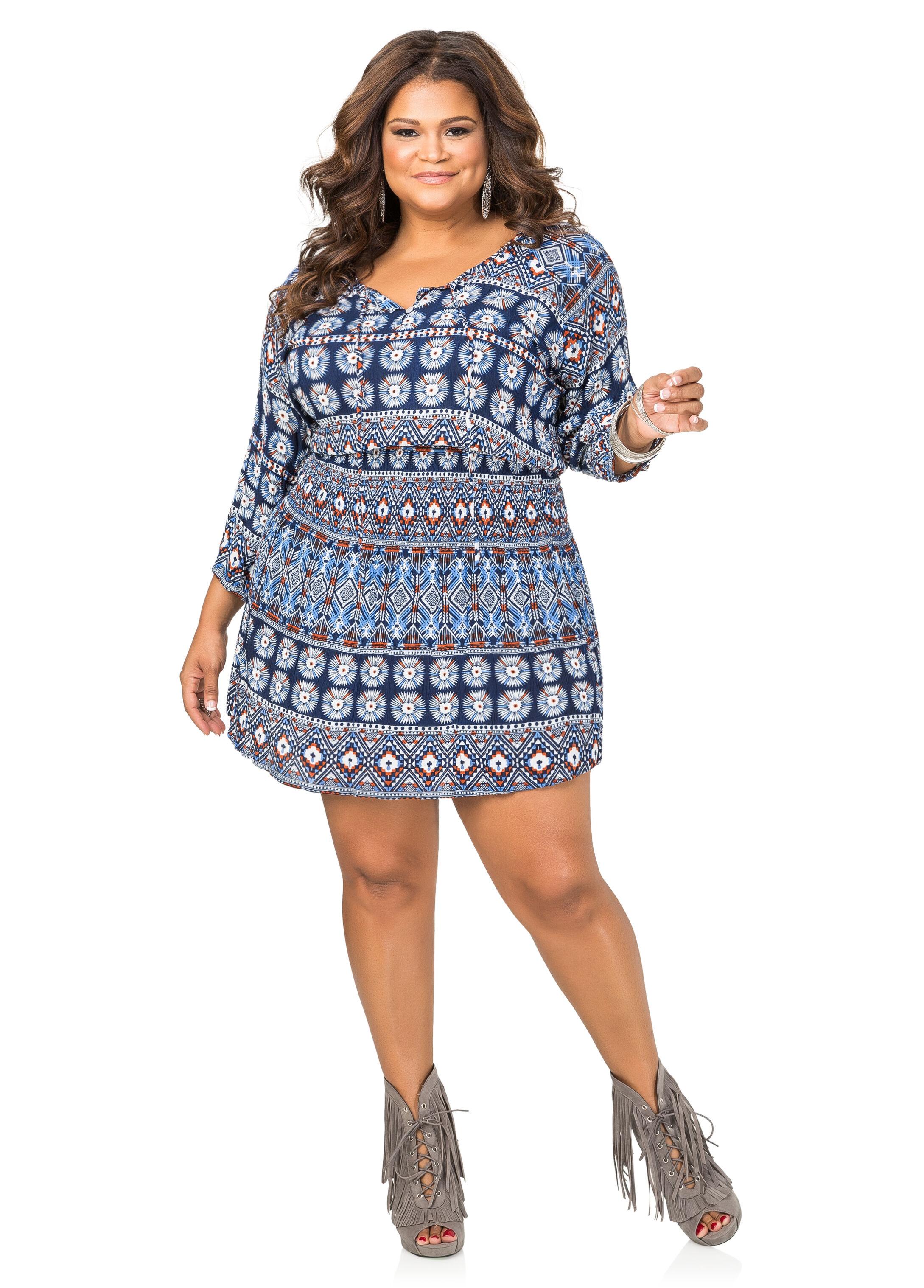 Boho Print Tunic Dress