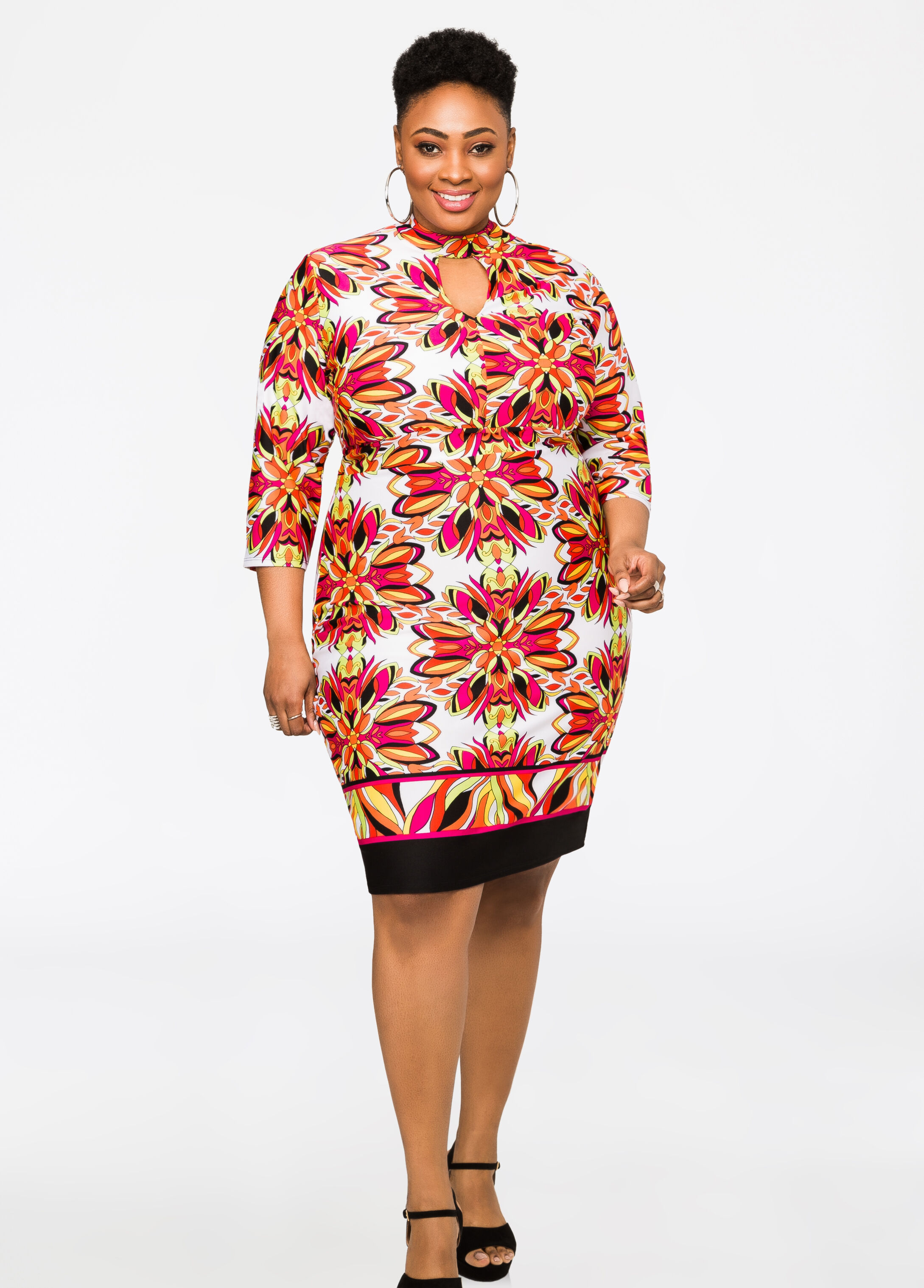 Mod Peekaboo Floral Dress