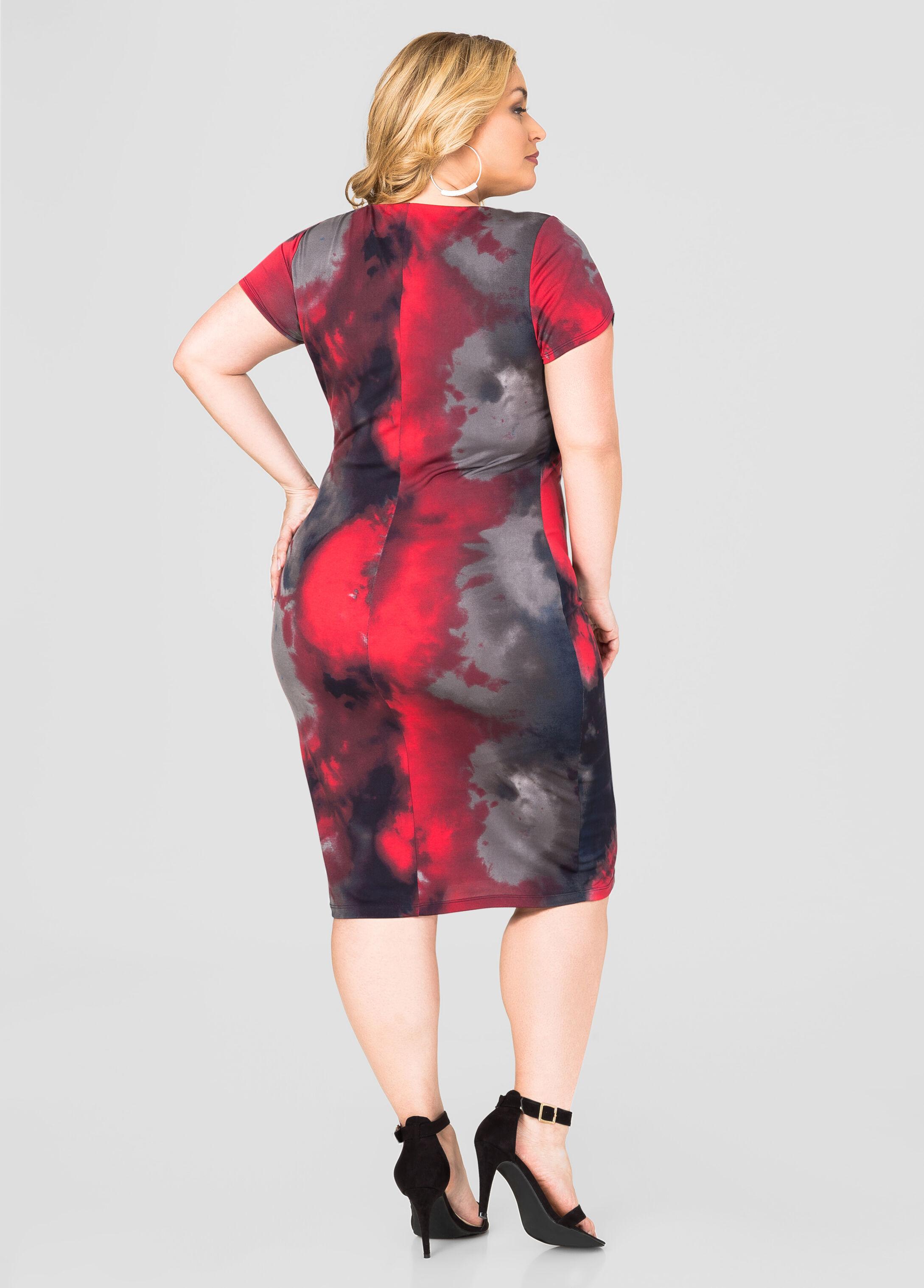 Lace-Up Tie Dye Dress