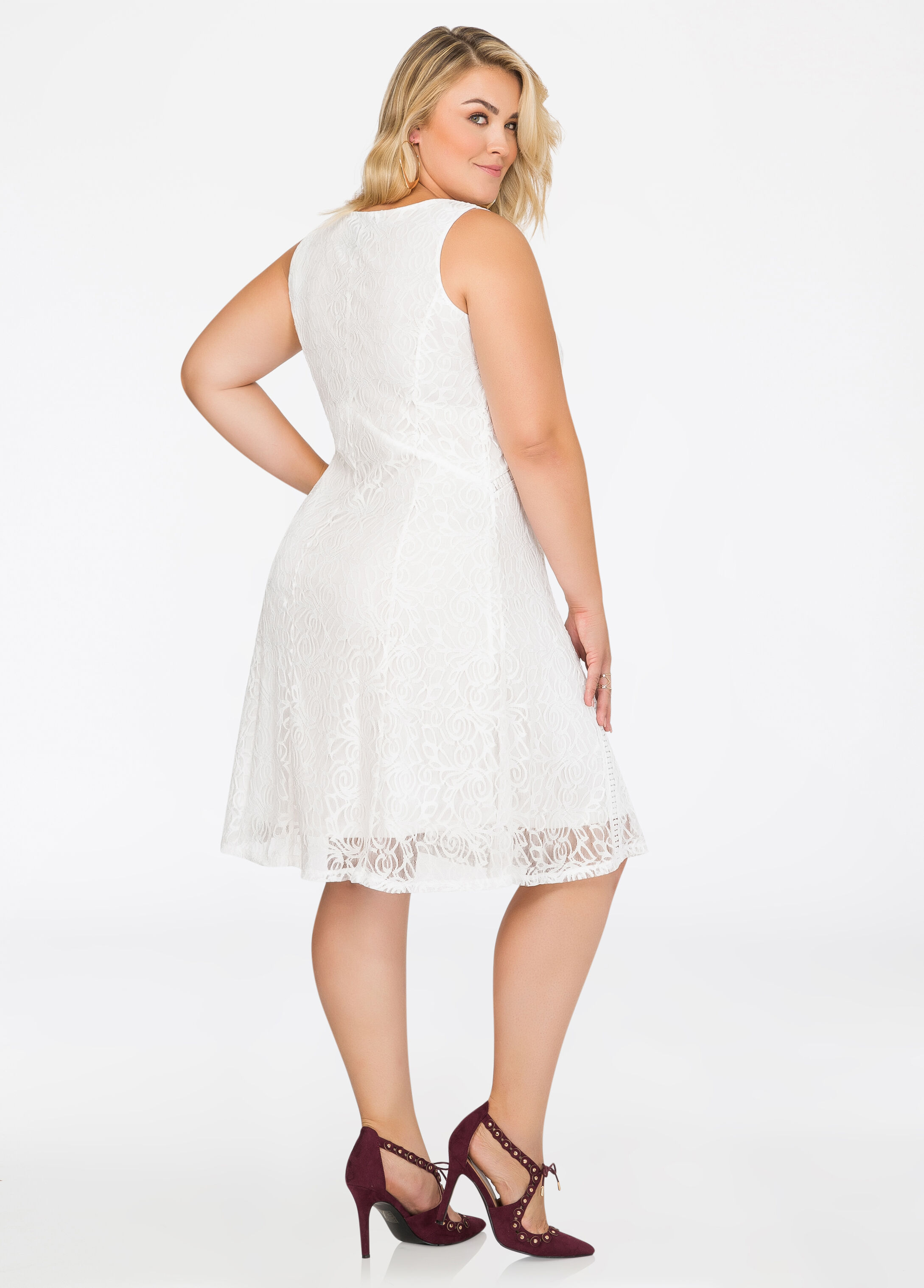 Allover Lace Skater Dress