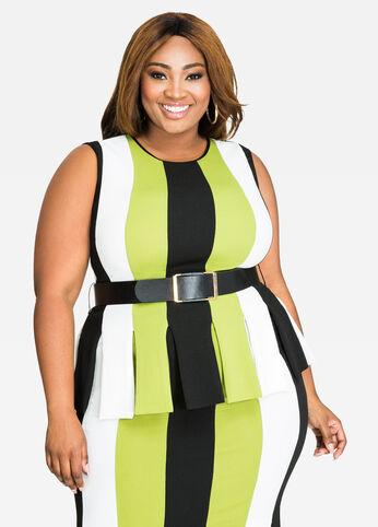 buy plus size peplum dresses for women - ashley stewart