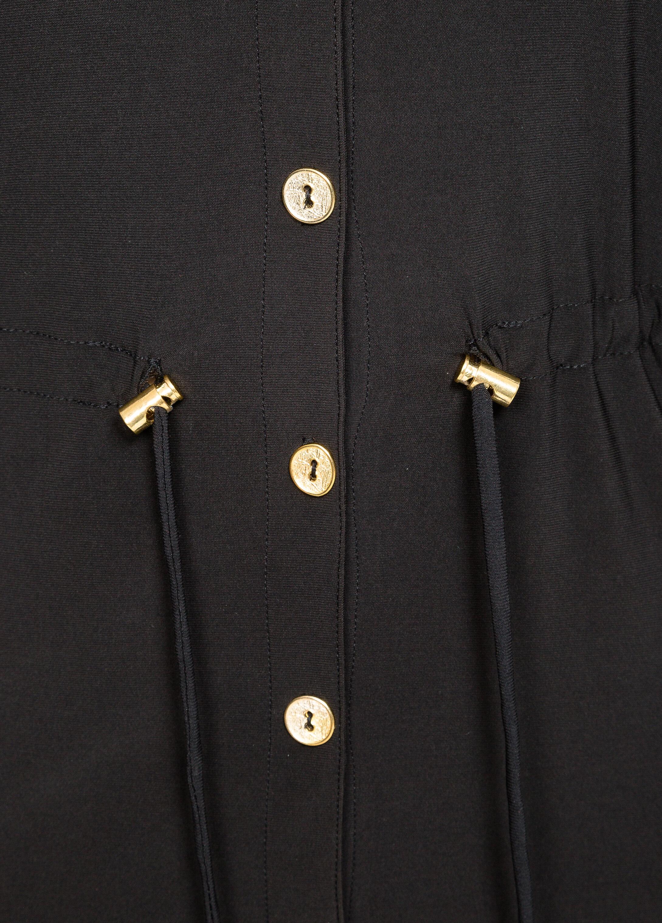 Drawstring Waist Shirt Dress
