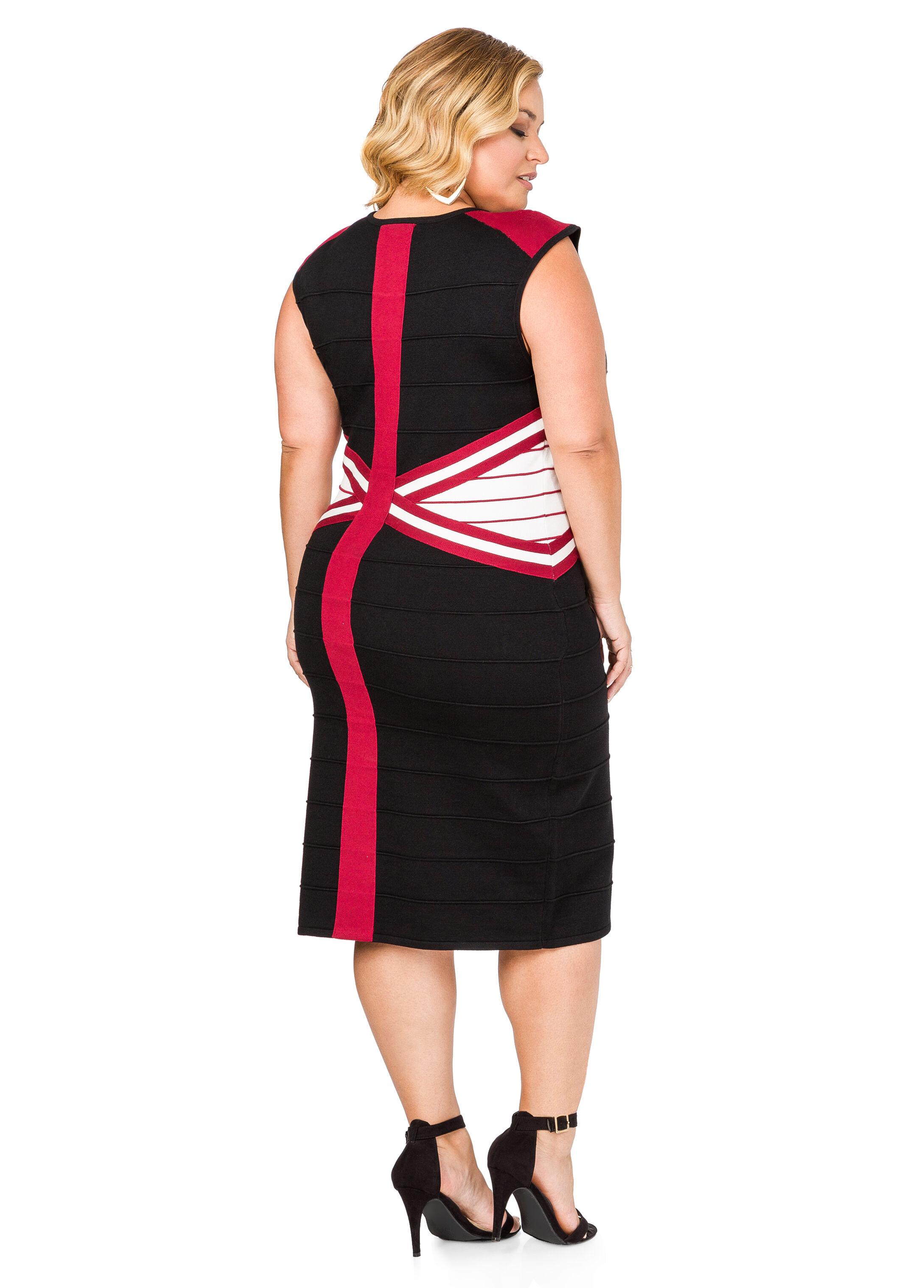 Criss Cross Bandage Sweater Dress