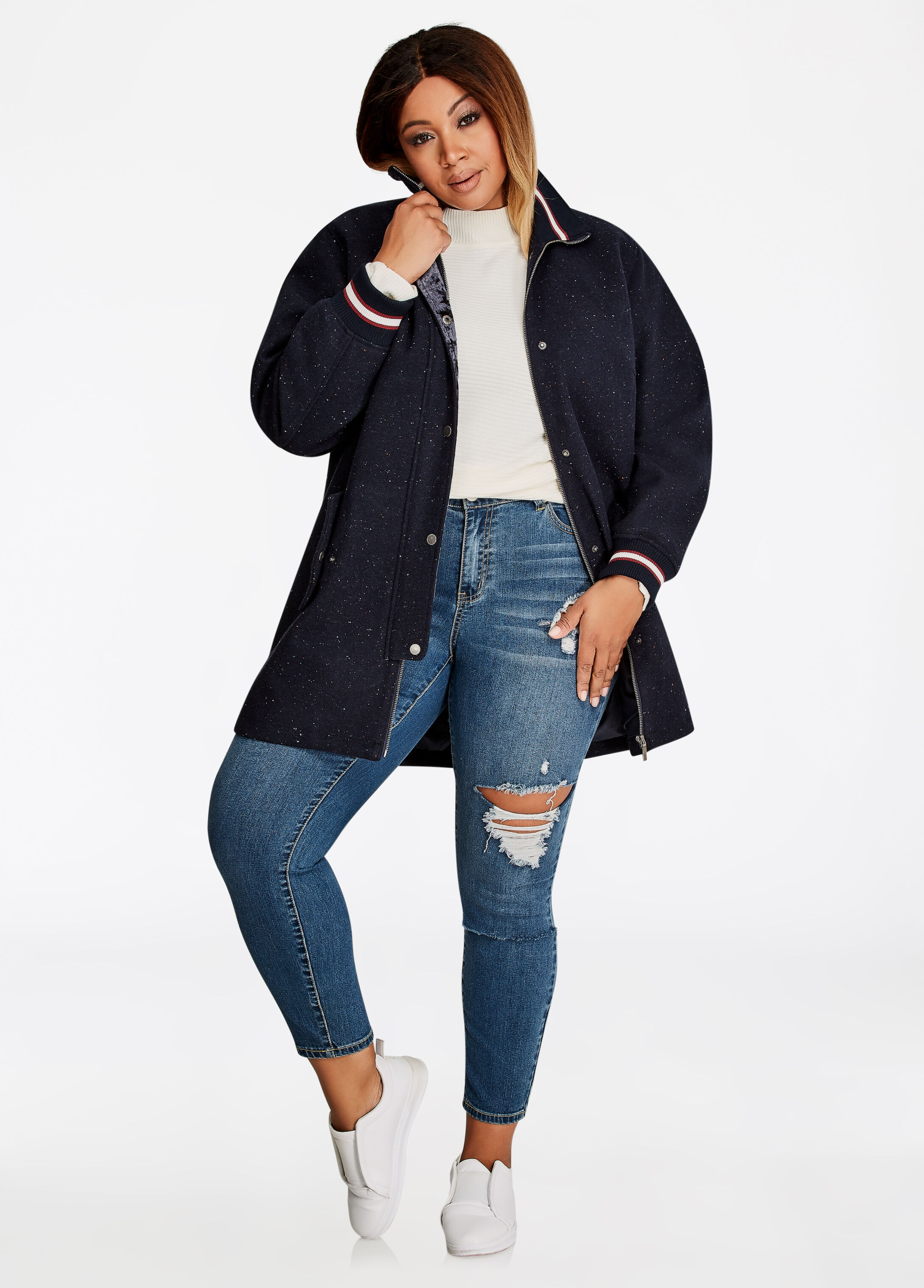 Varsity Wool Coat
