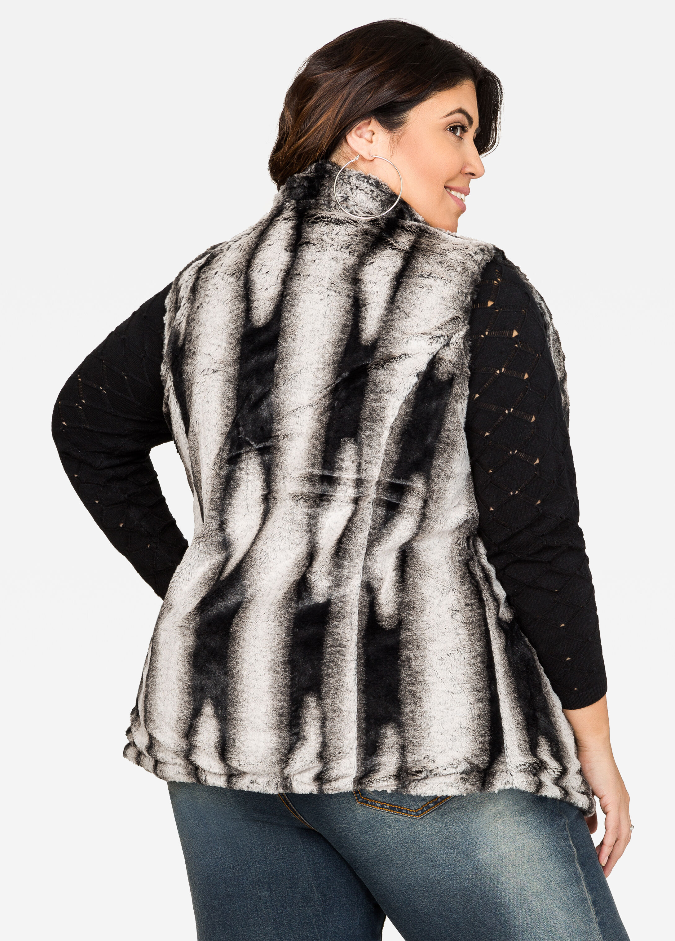 Quilted Faux Fur Reversible Vest