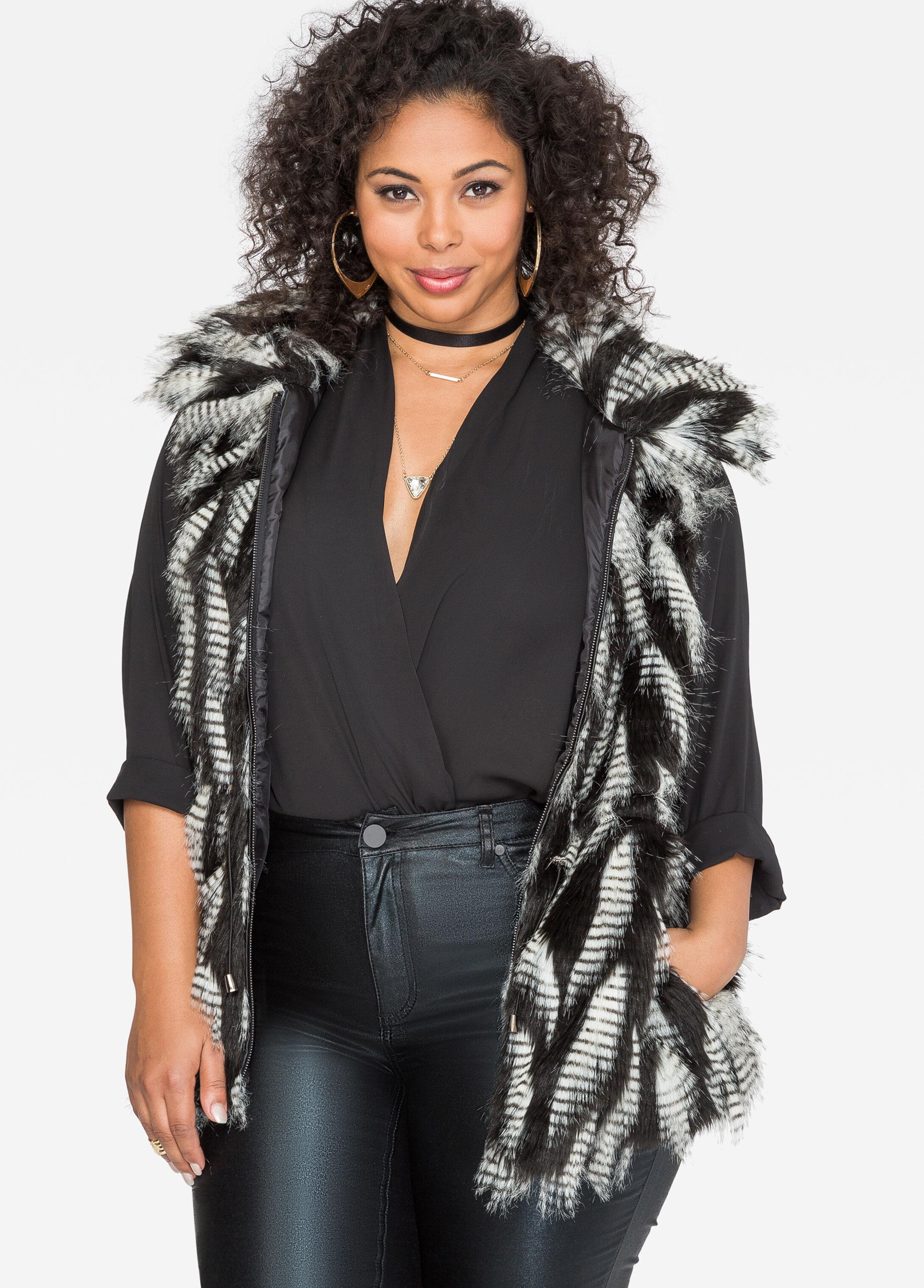 Drawstring Waist Fur Vest