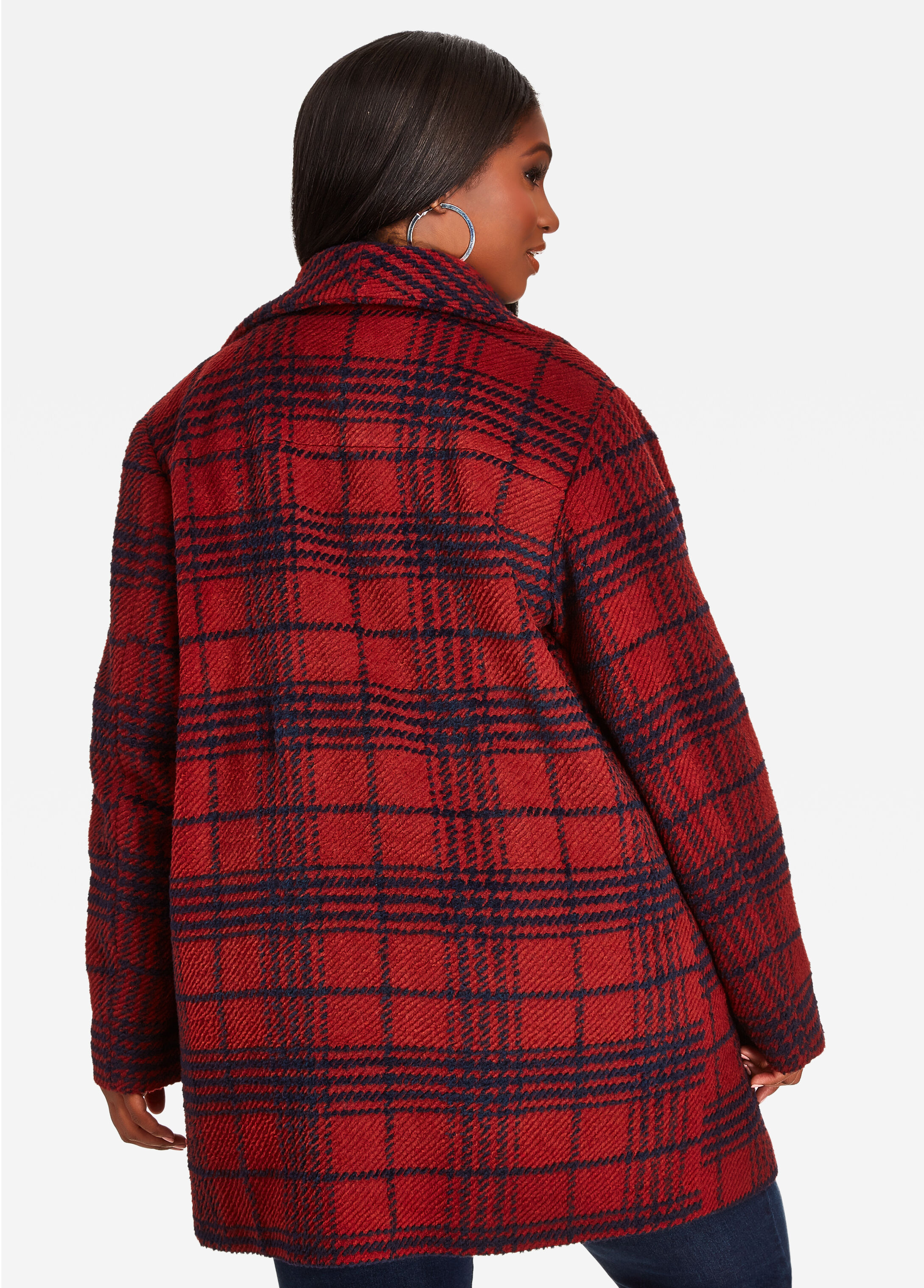 Multi Plaid Coat