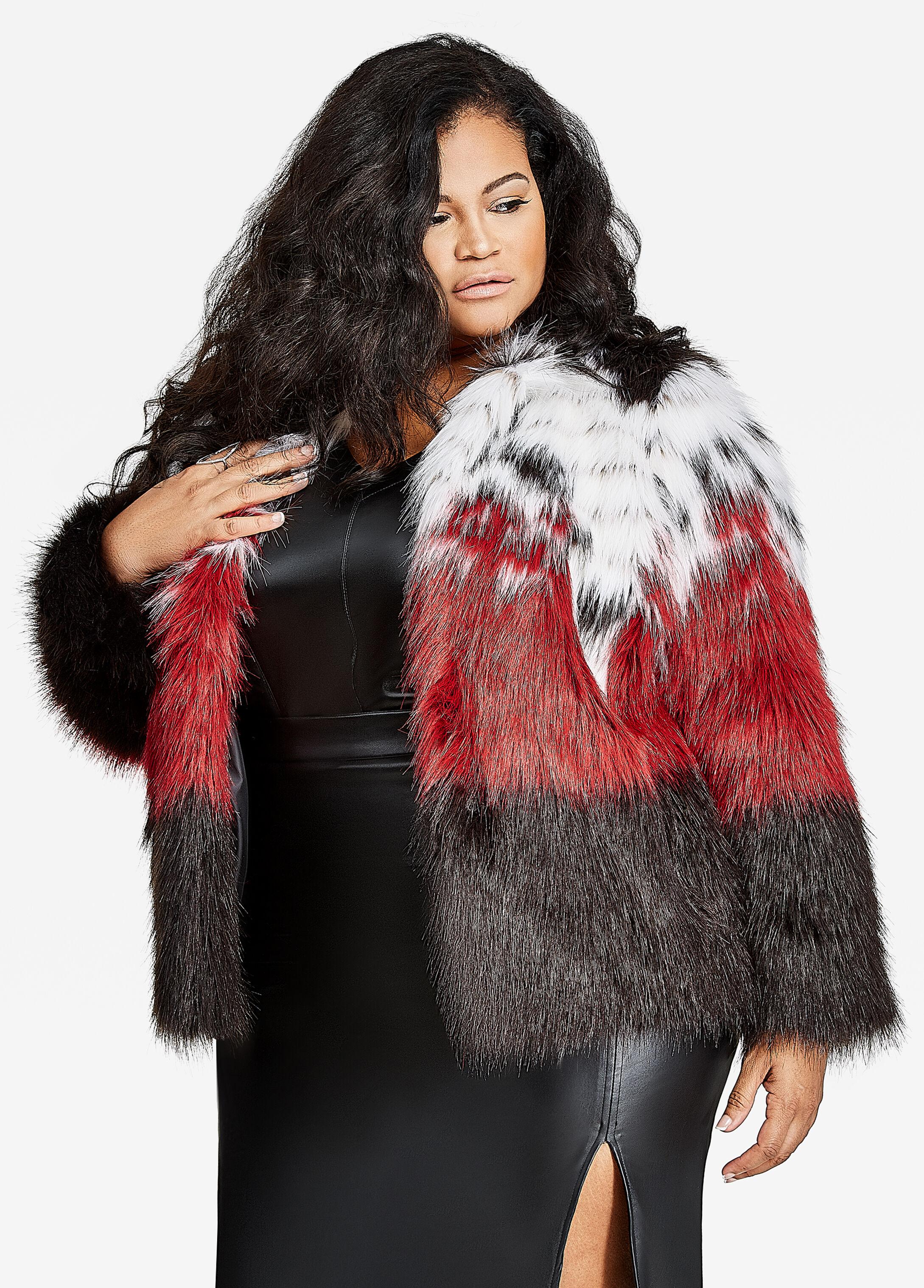 Multi-Color Fur Coat