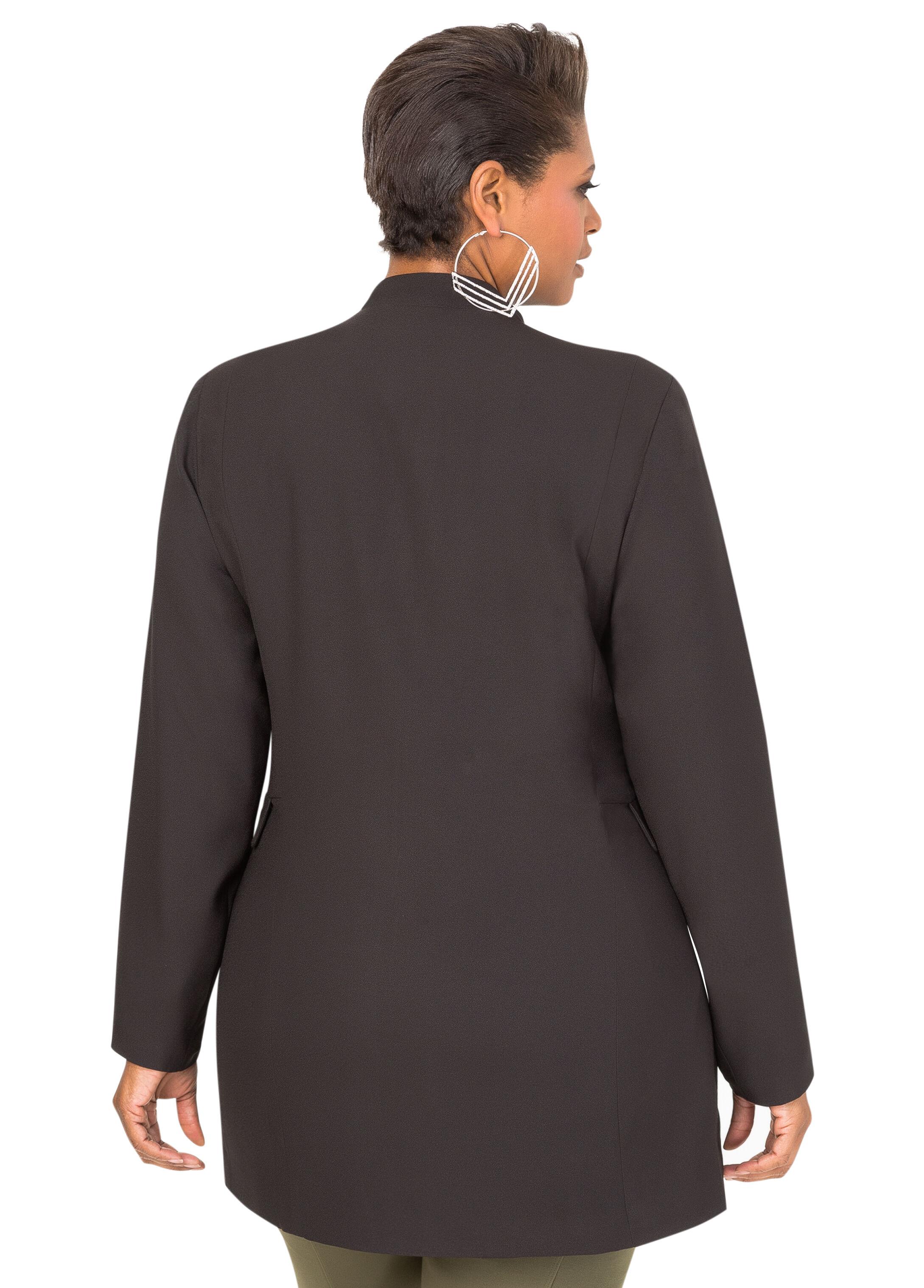 Crepe Zip Detail Jacket