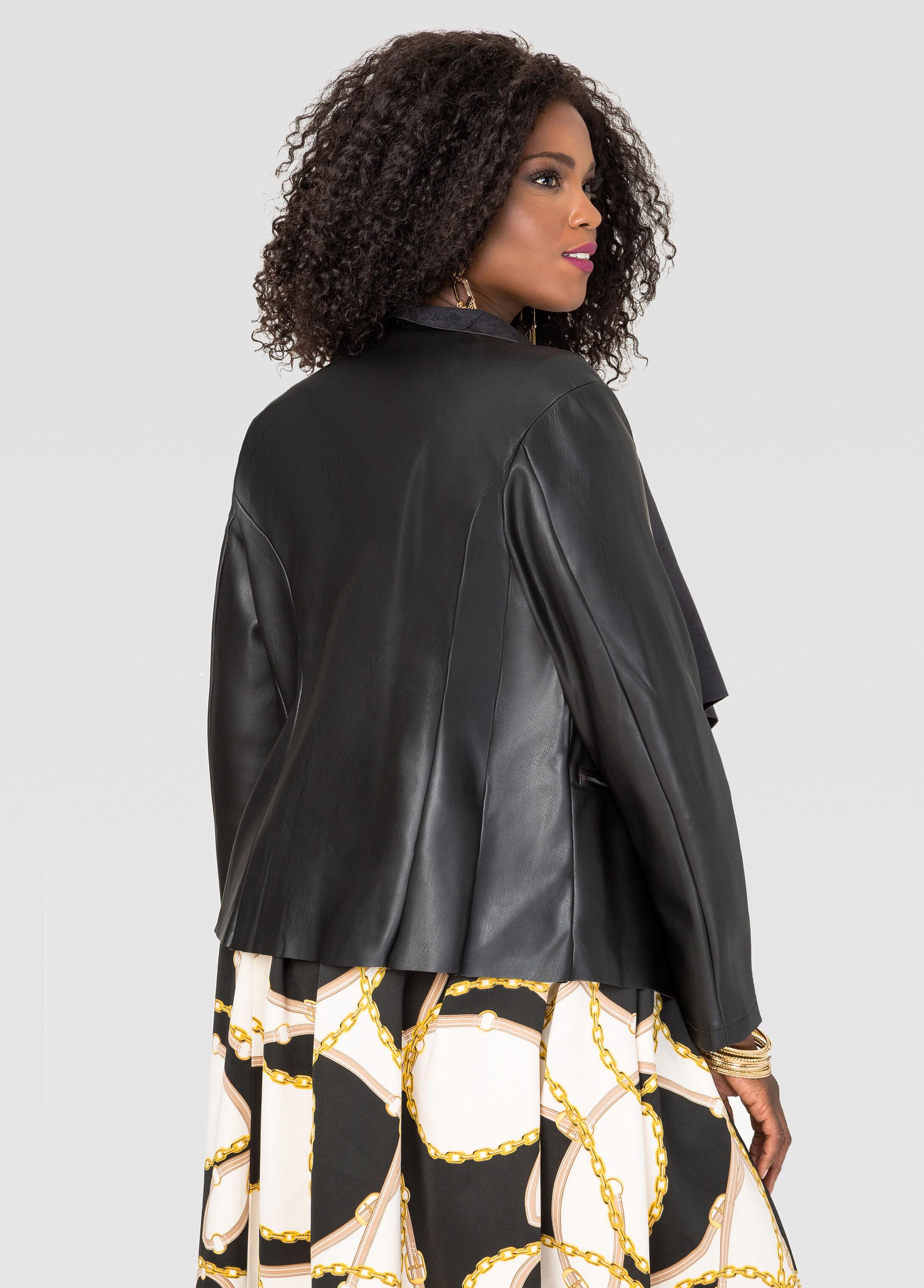 Cascade Faux Leather Jacket