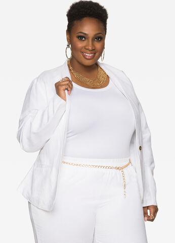 buy plus size white linen - ashley stewart