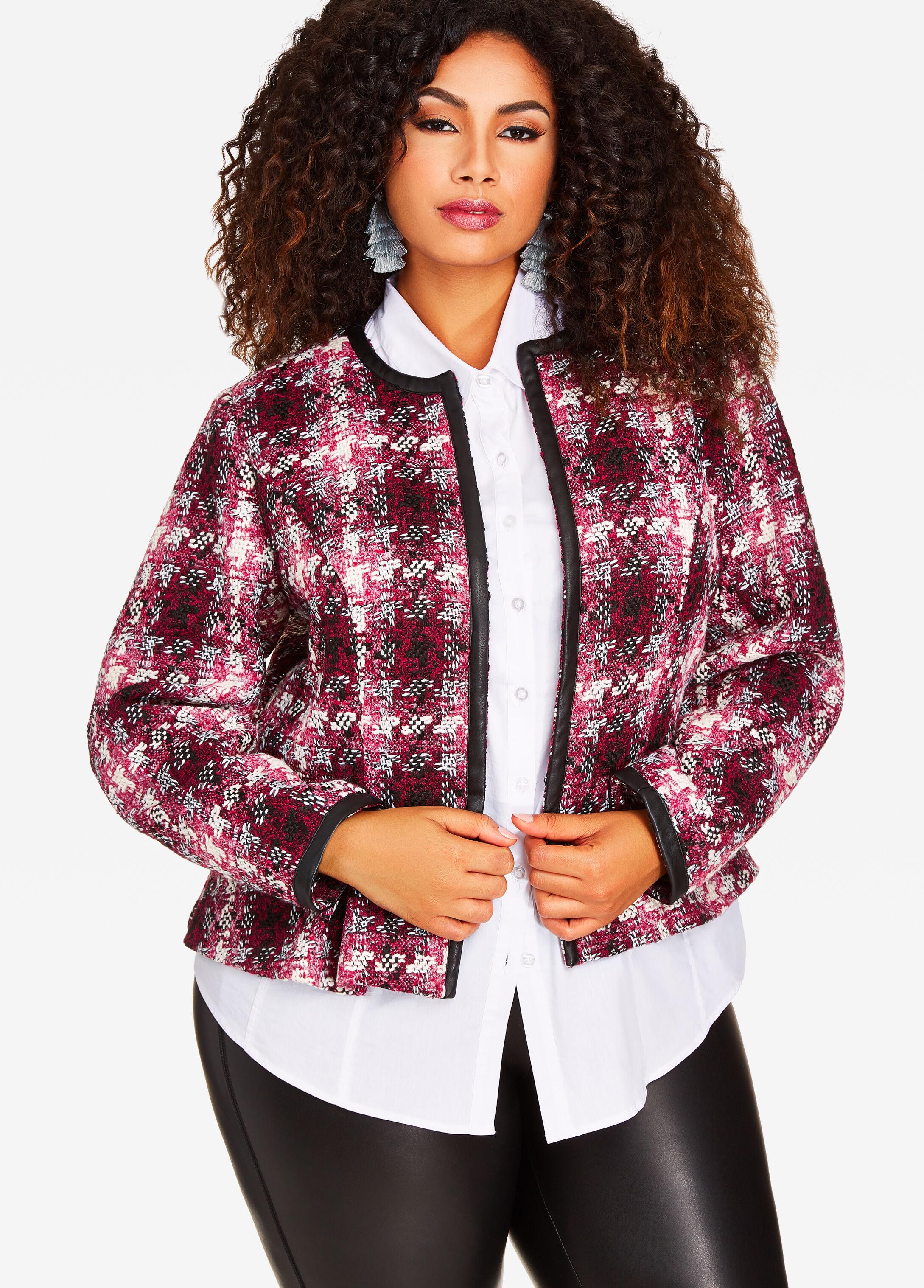 Plaid Boucle Jacket