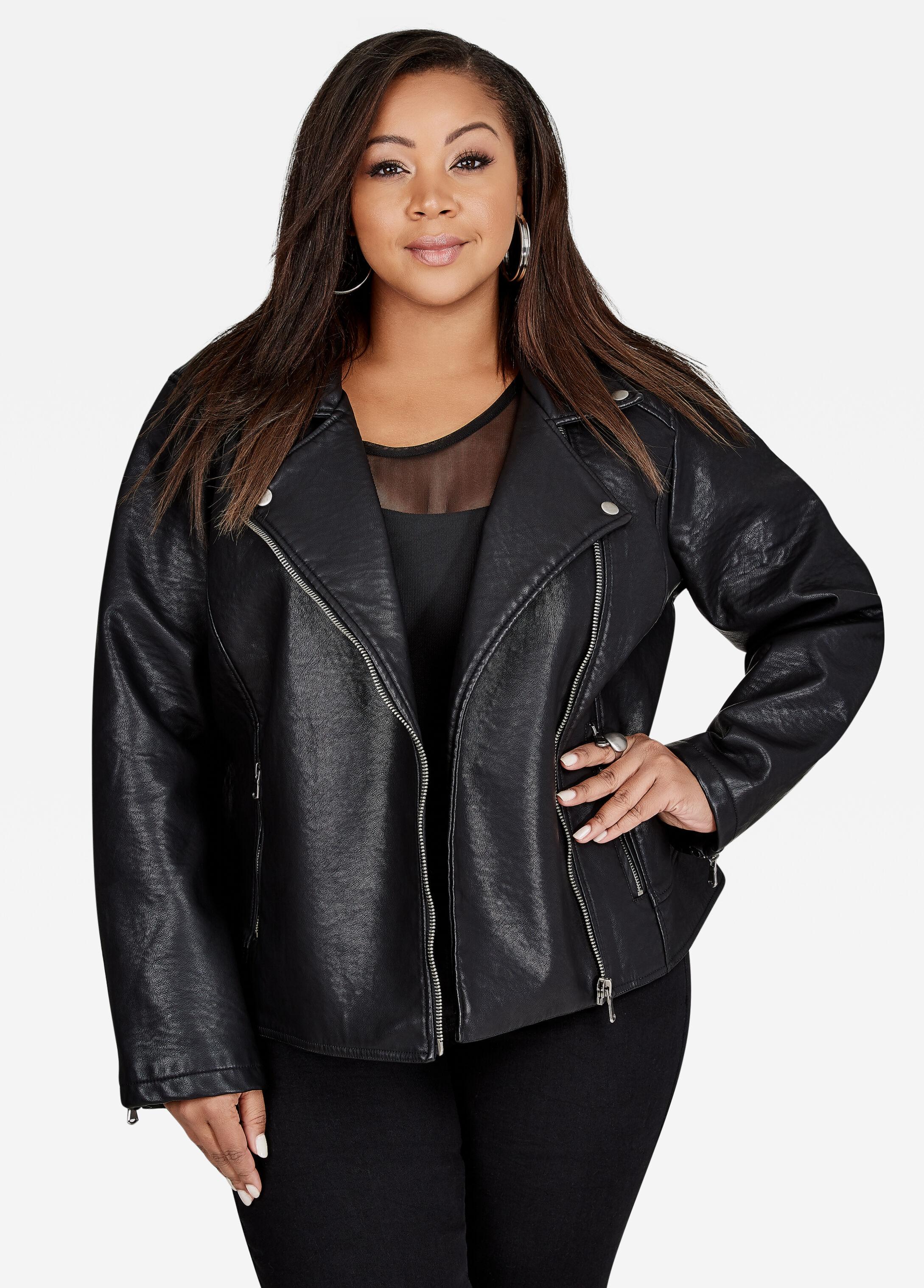 Faux Leather Buffalo Moto Jacket