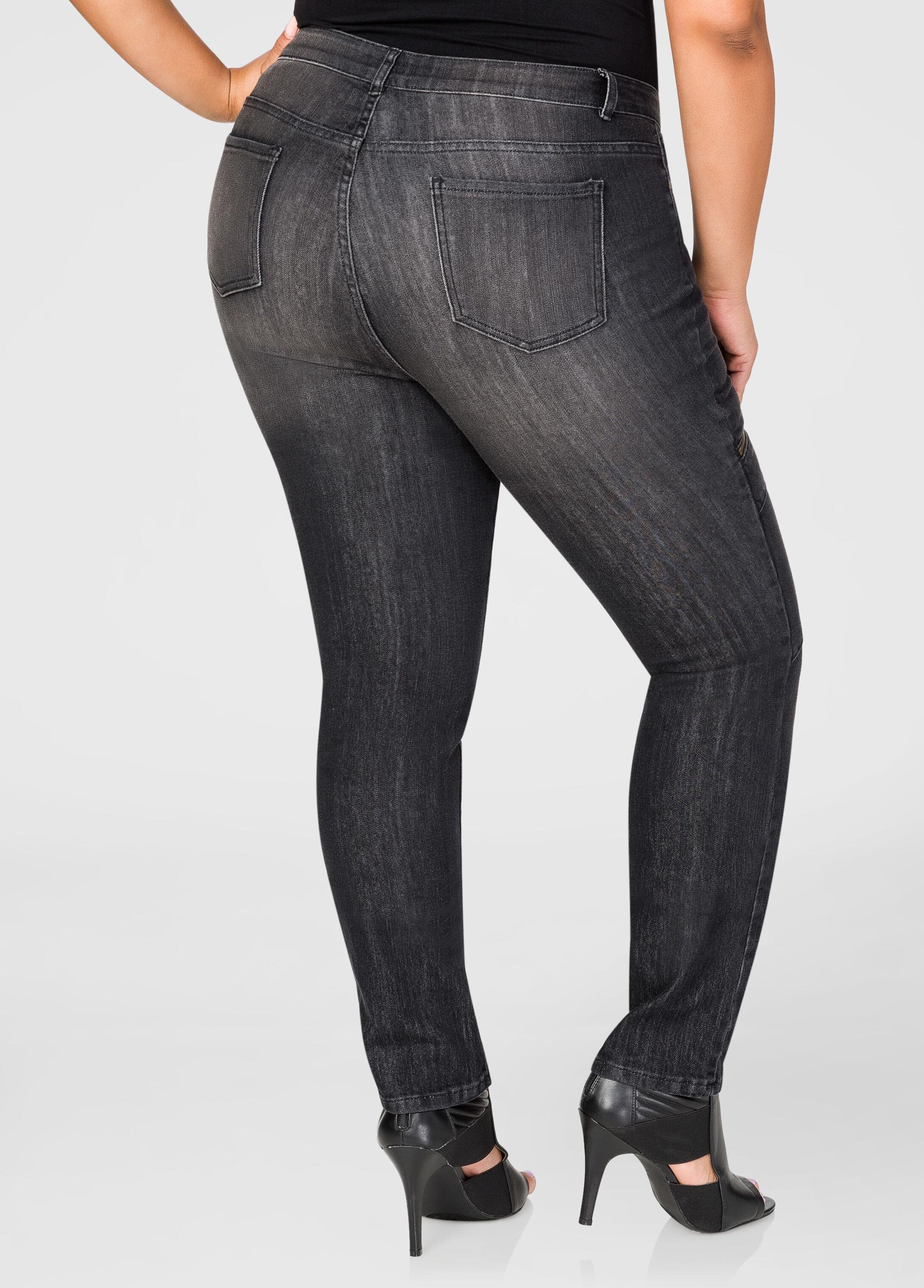 Zip Detail Skinny Leg Jean