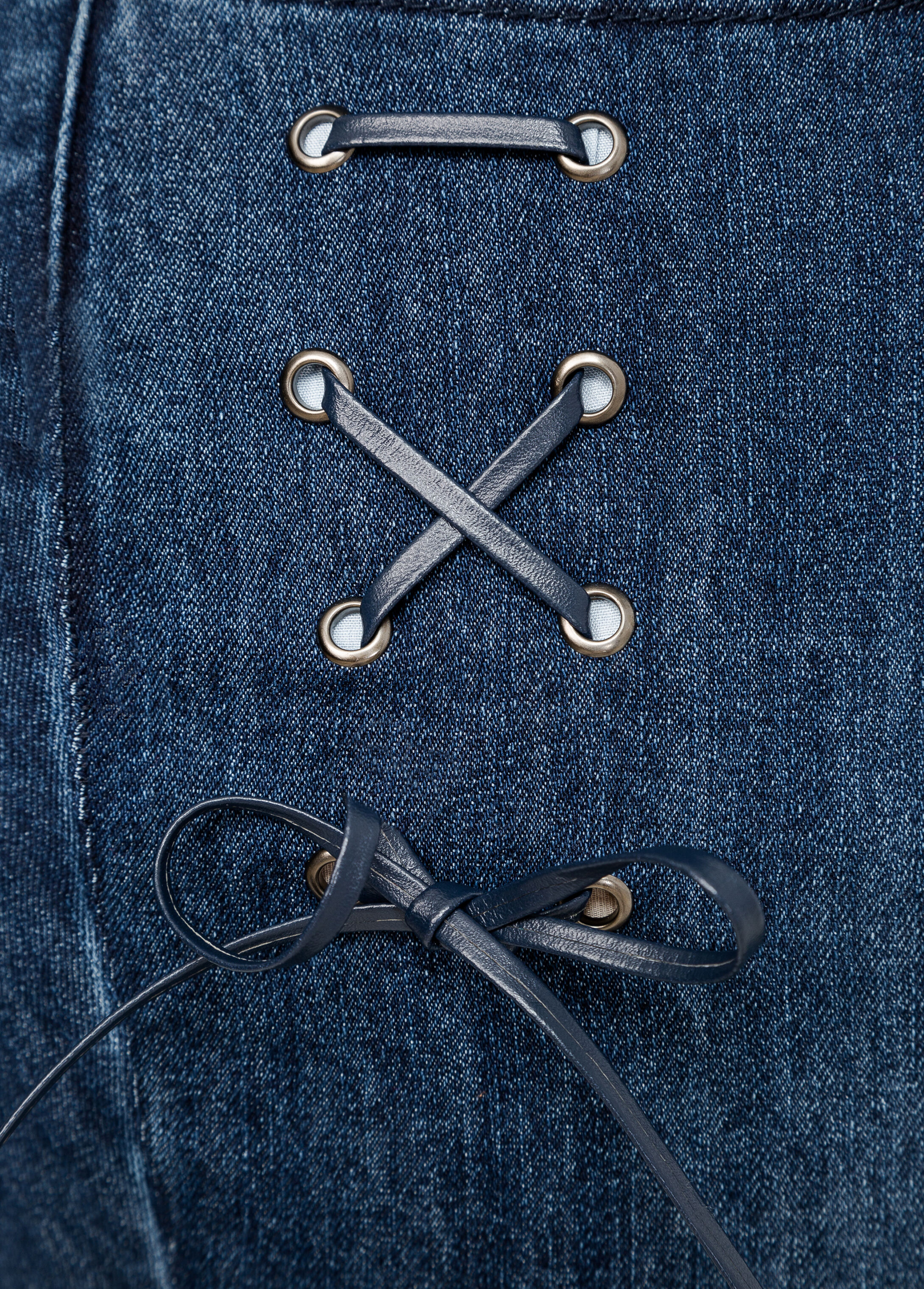 Lace-Up Skinny Jean