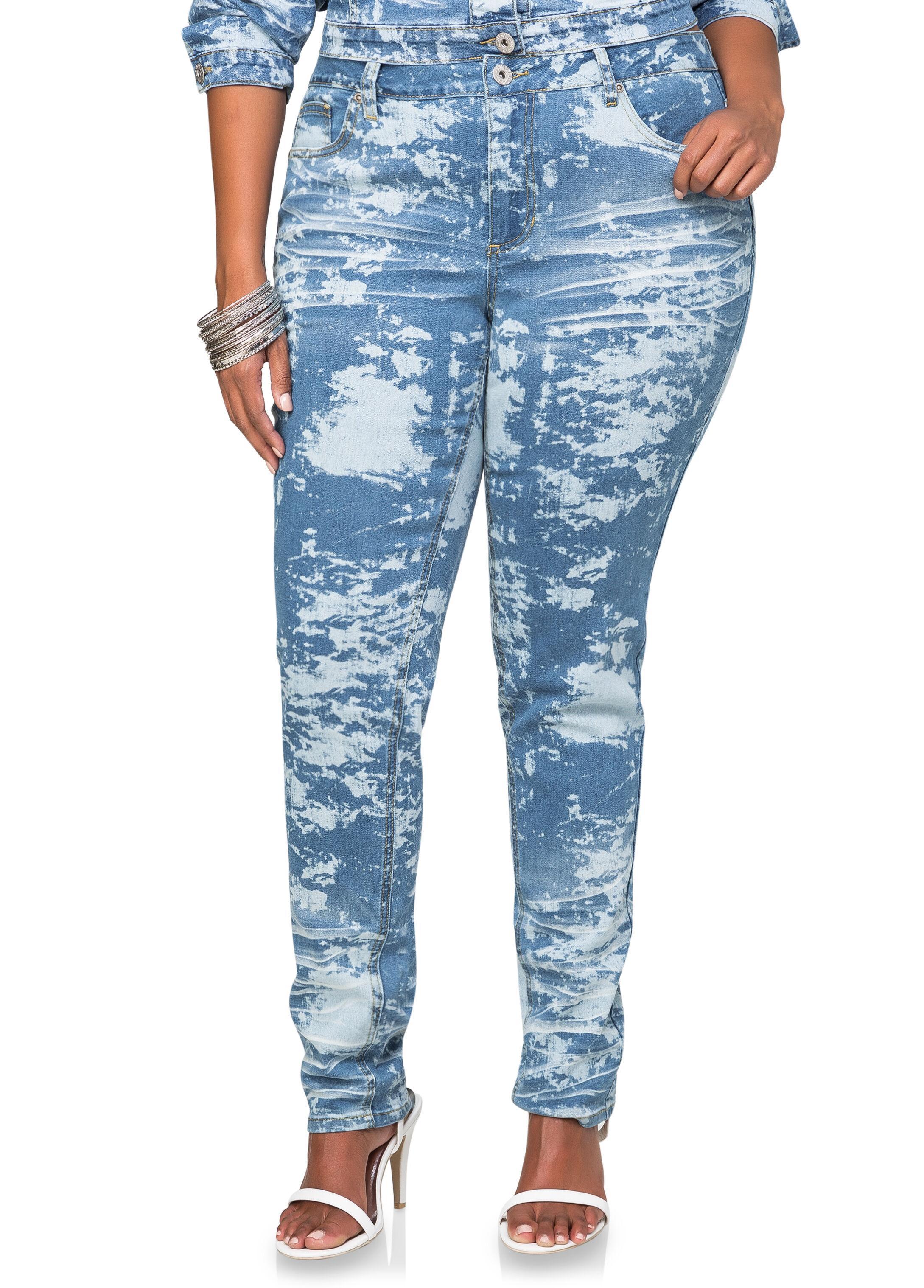 Splash Wash Skinny Jean