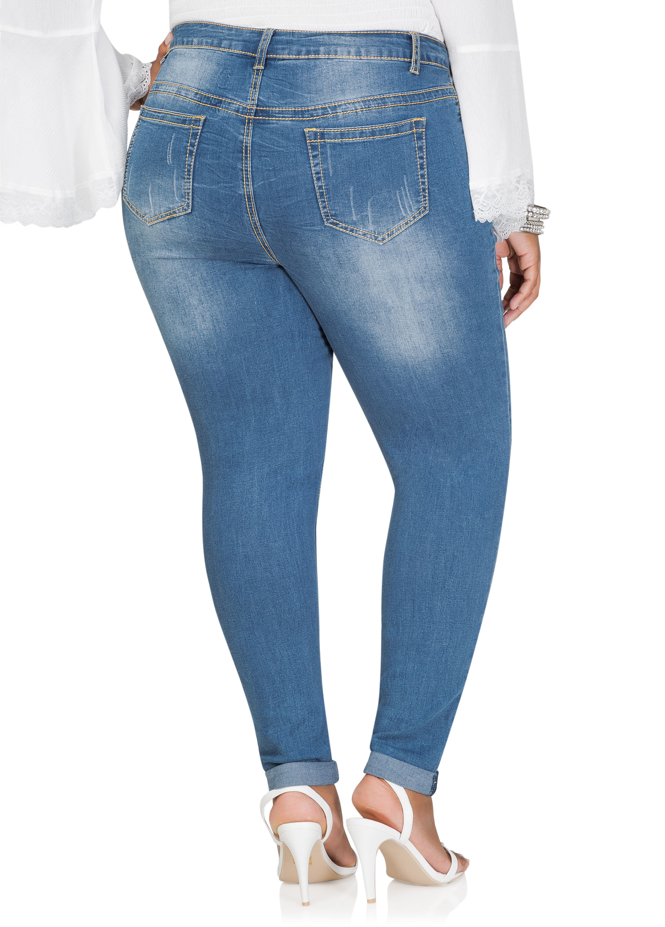 Love Graphic Cropped Skinny Jean