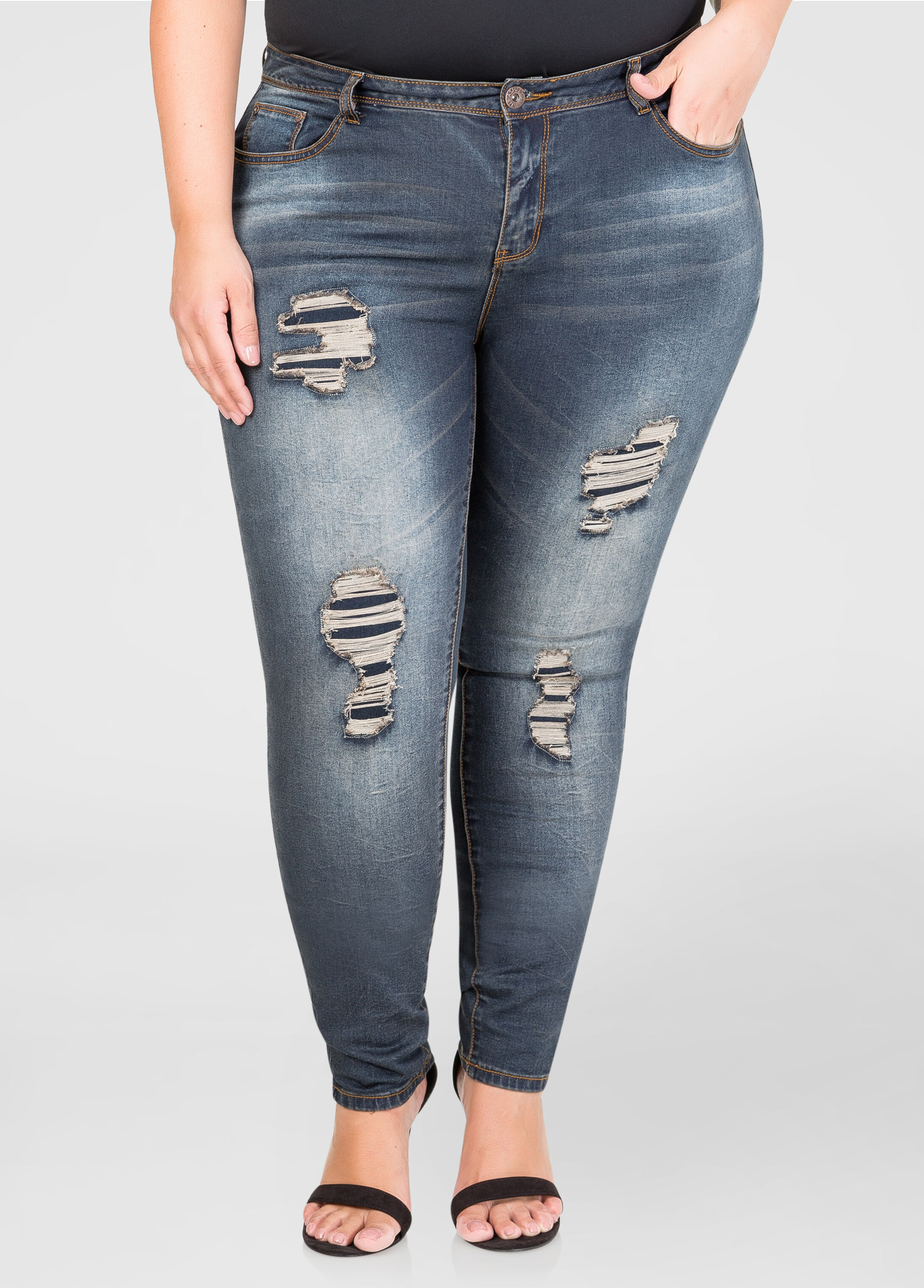 Destructed Bum Lifter Skinny Jean