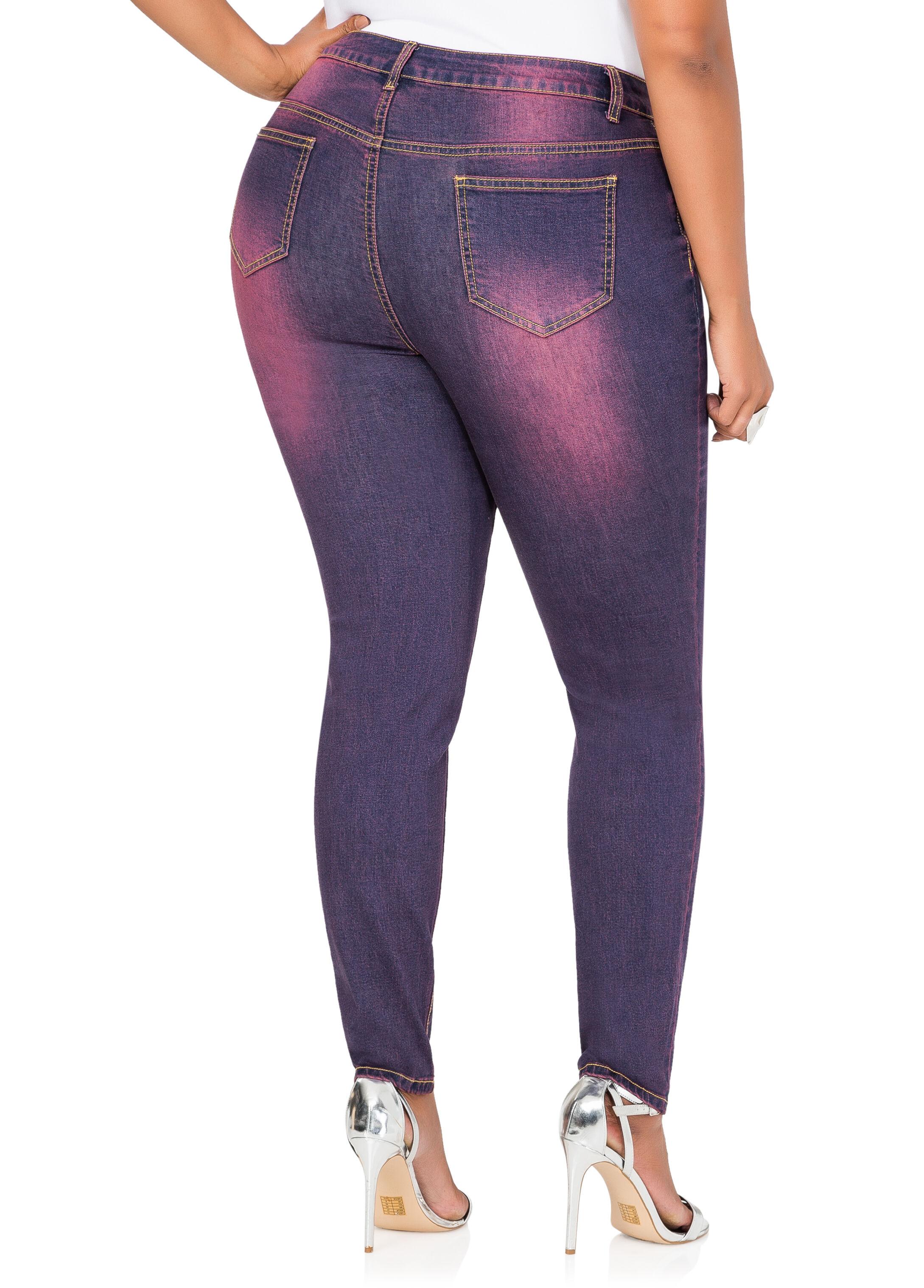 Purple Wash Skinny Jean