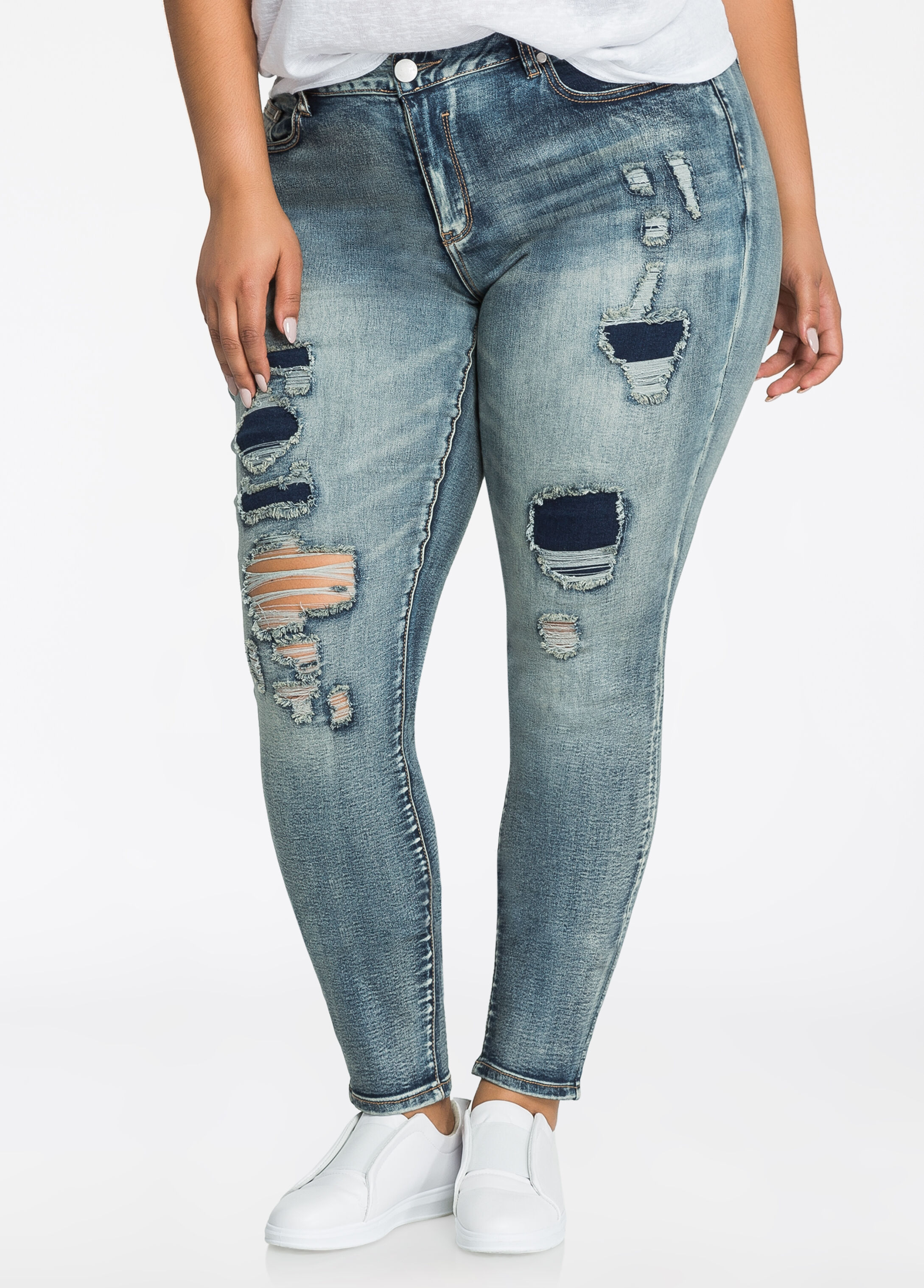 Edgy Ripped Skinny Jean
