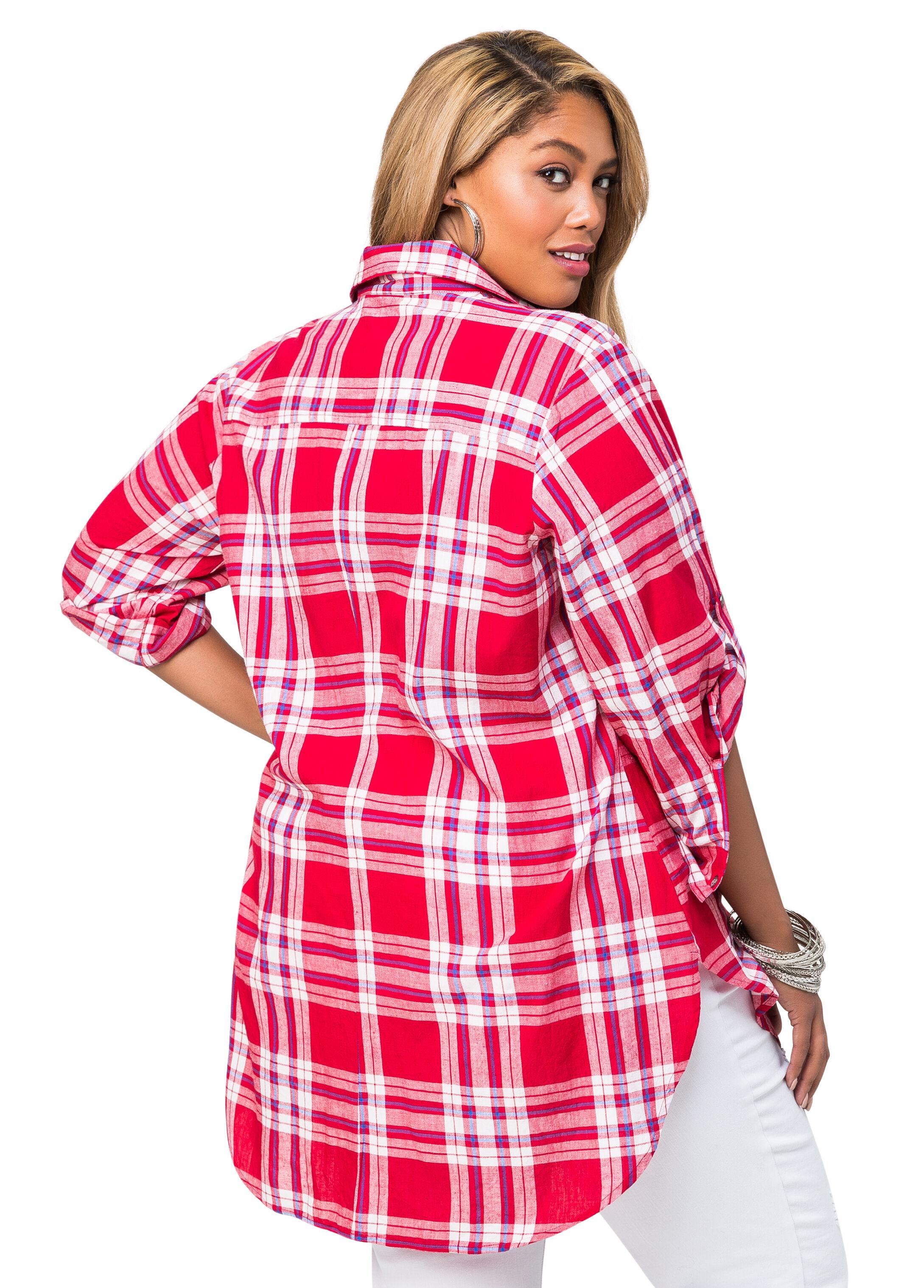 Hi-Lo Plaid Shirt