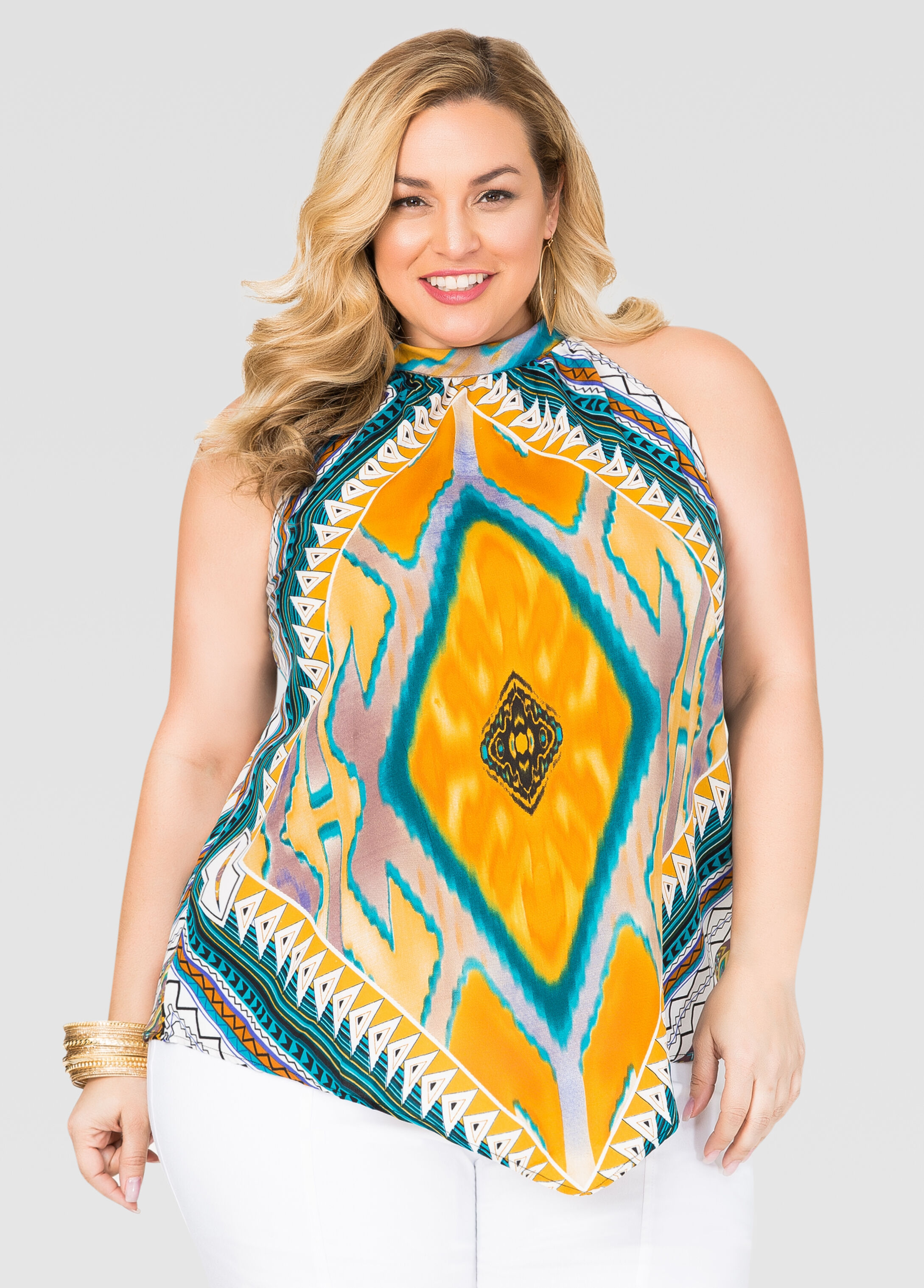 Tribal Scarf Halter Top
