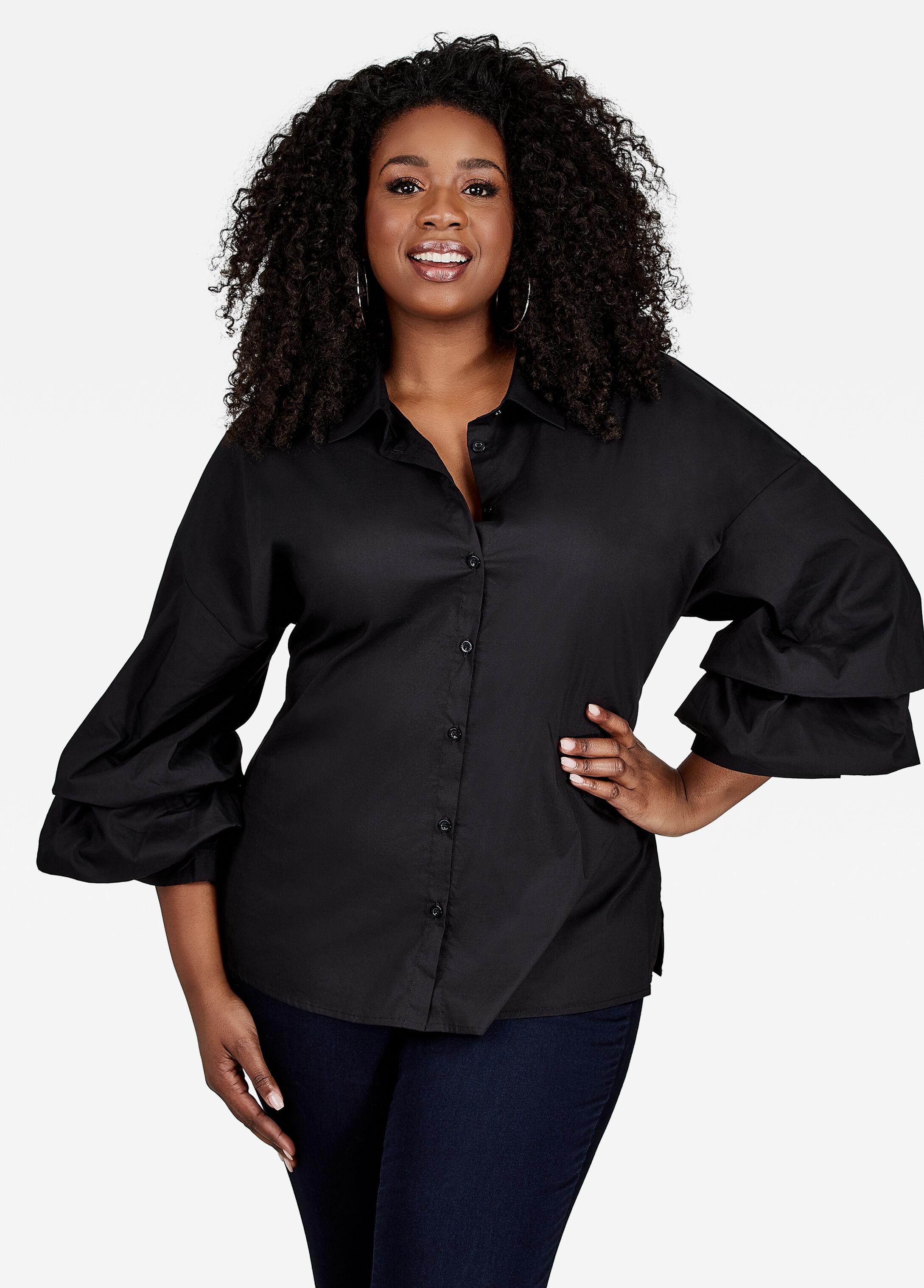Layer Sleeve Button Shirt