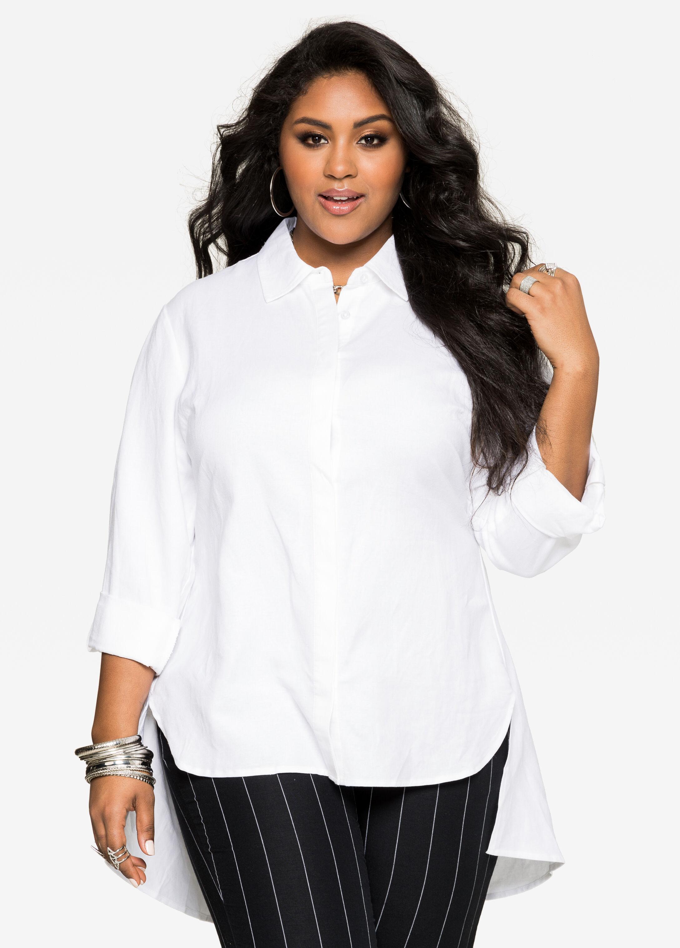 Hi-Lo Linen Tunic