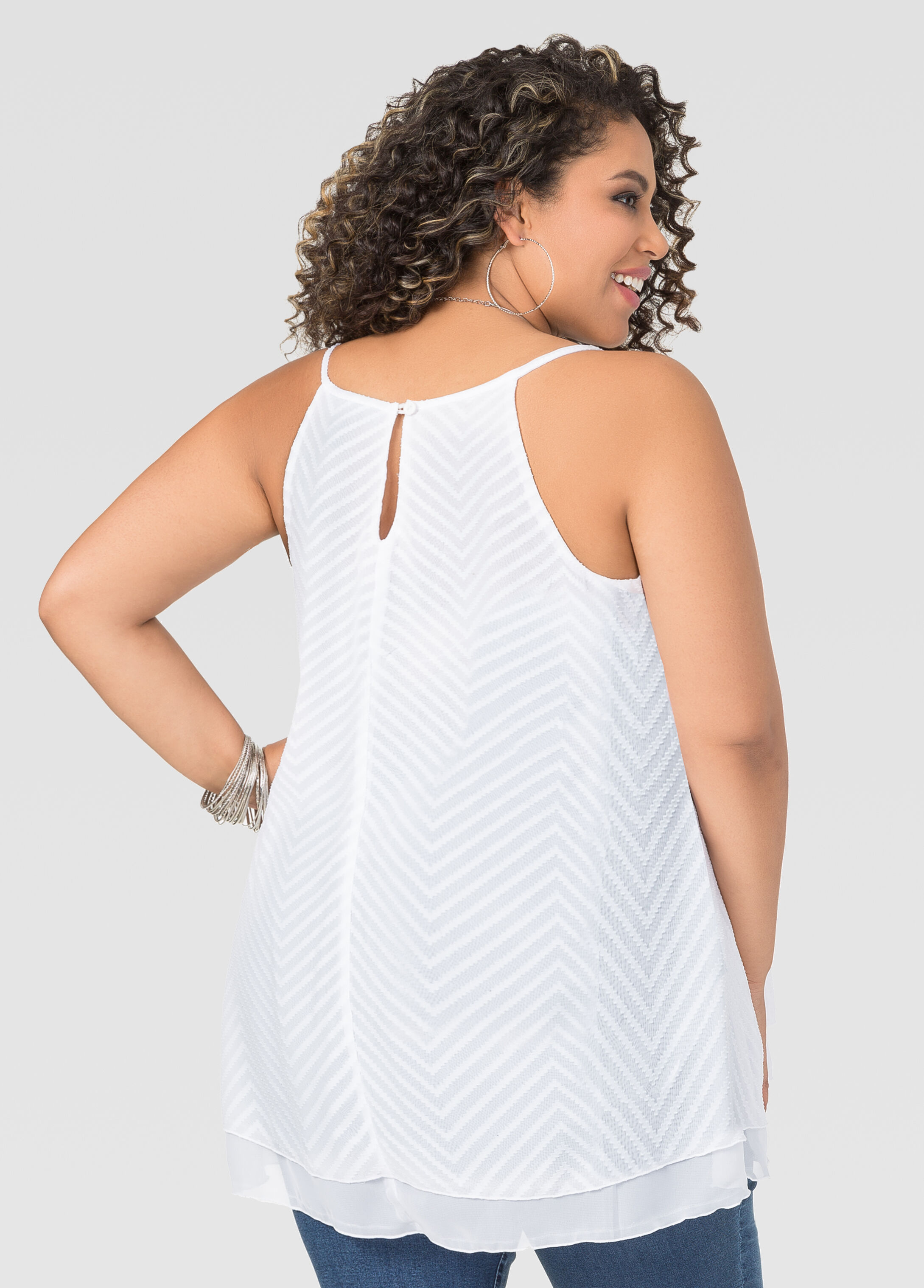 Textured Trapeze Tank