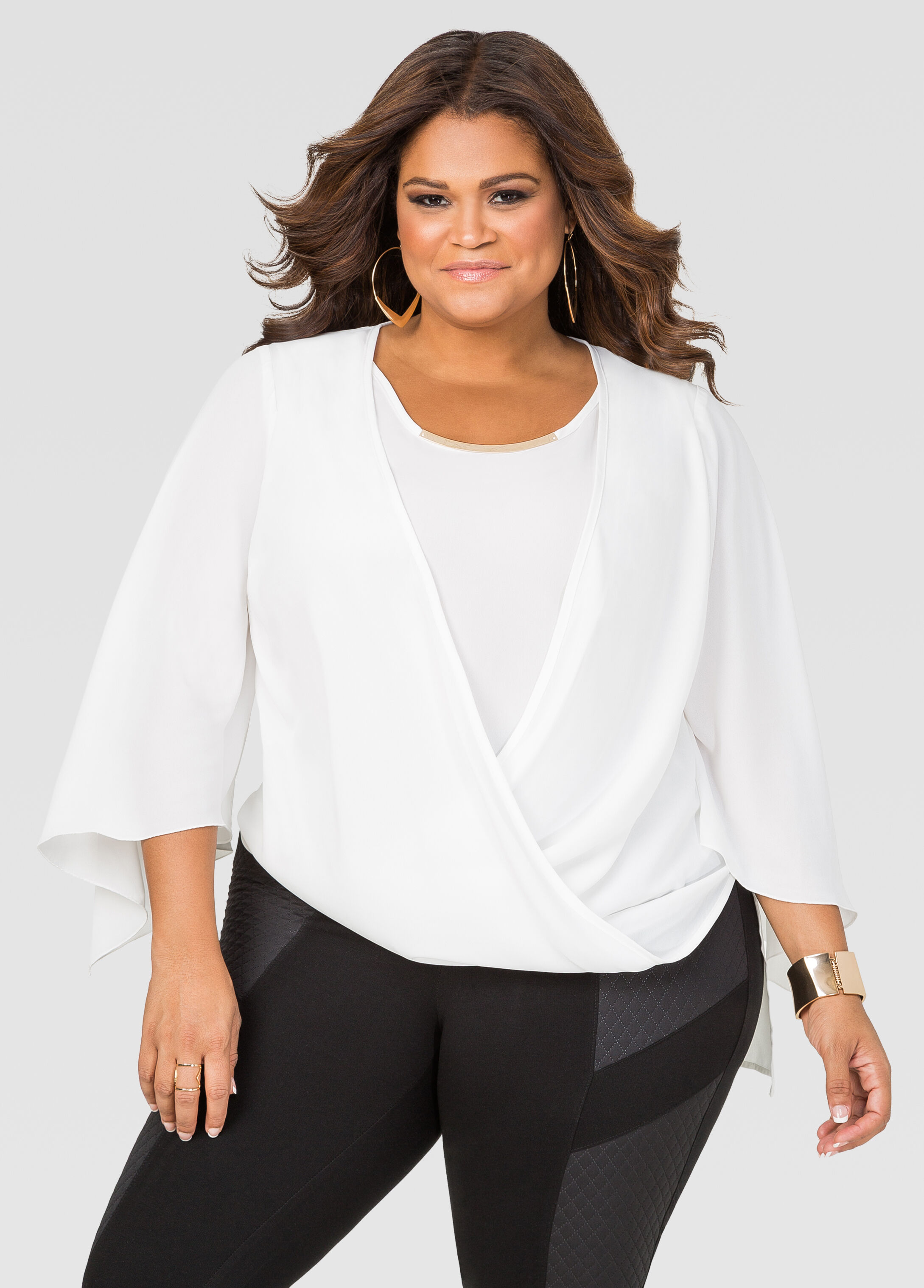 Draped Hardware Blouse