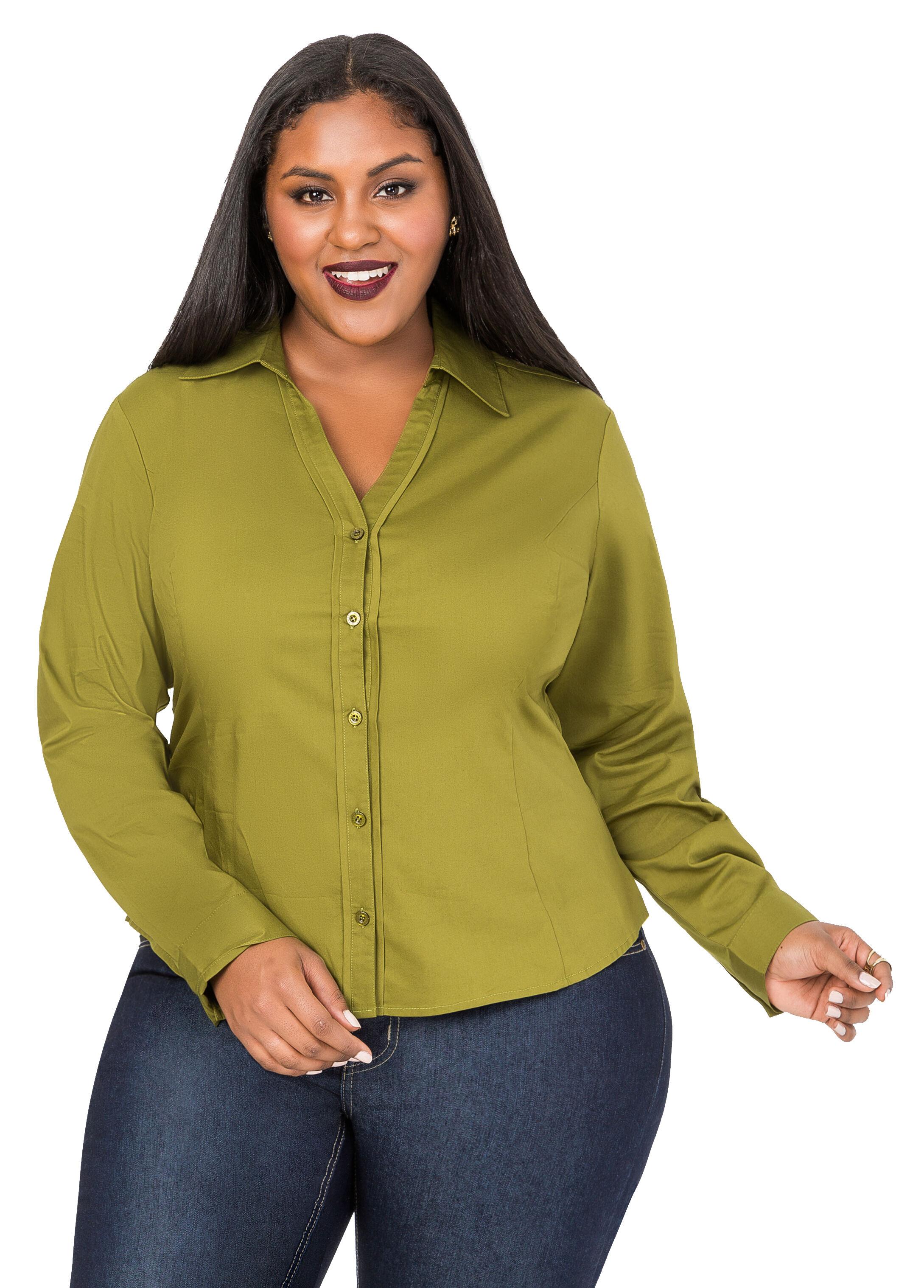Placket Piping Button Front Shirt
