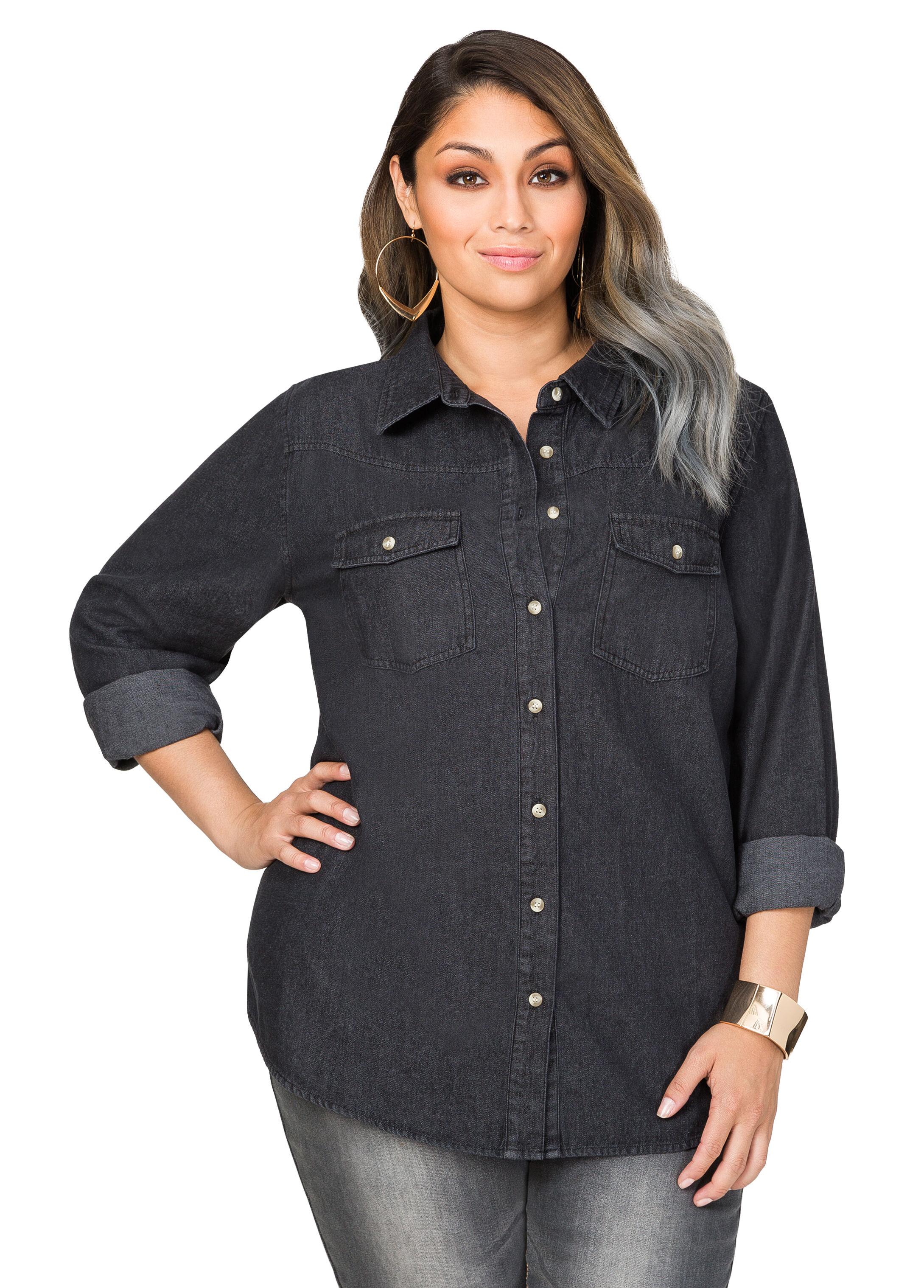 Black Wash Denim Shirt