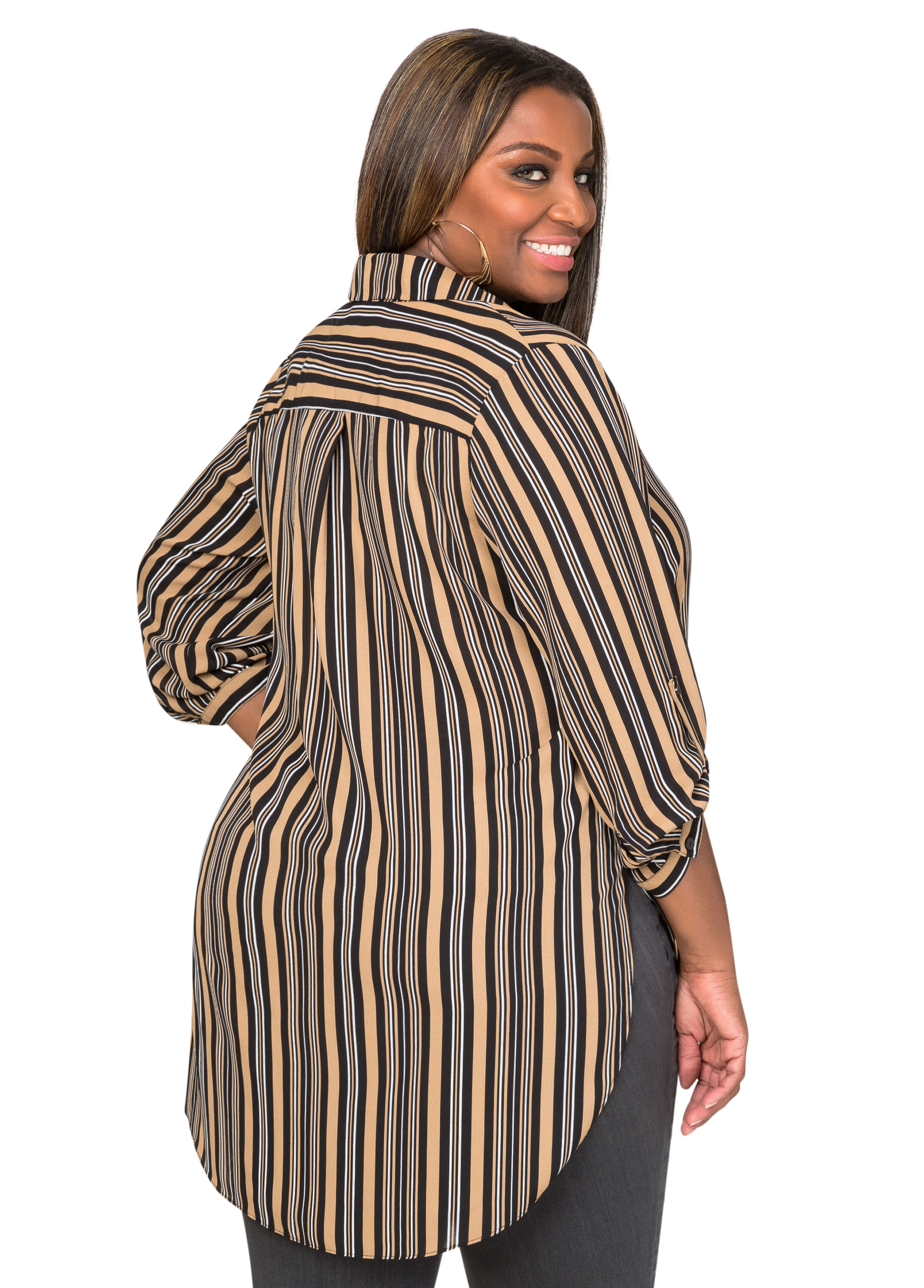 Striped Hi-Lo Tunic
