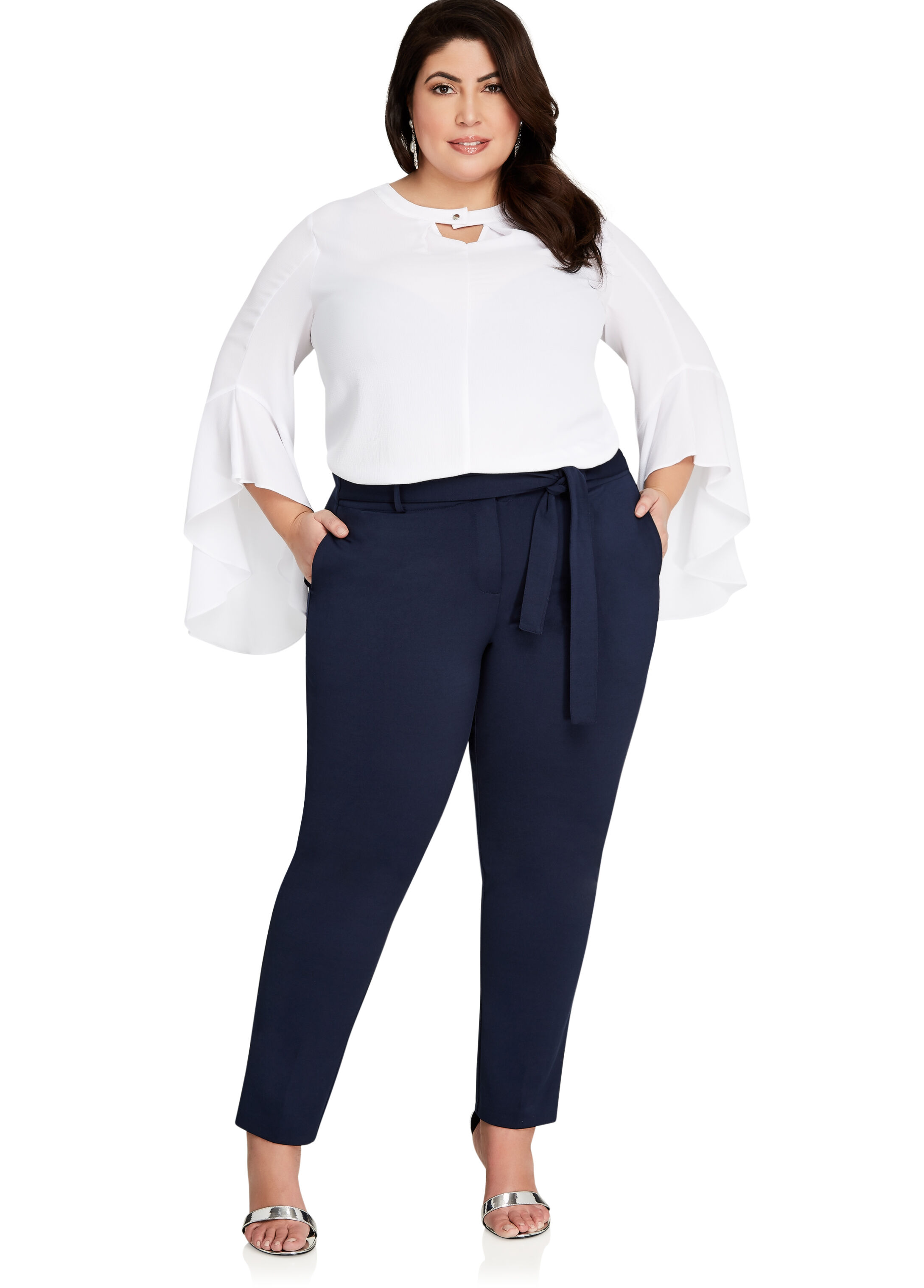 High-Waisted Paper Bag Trousers