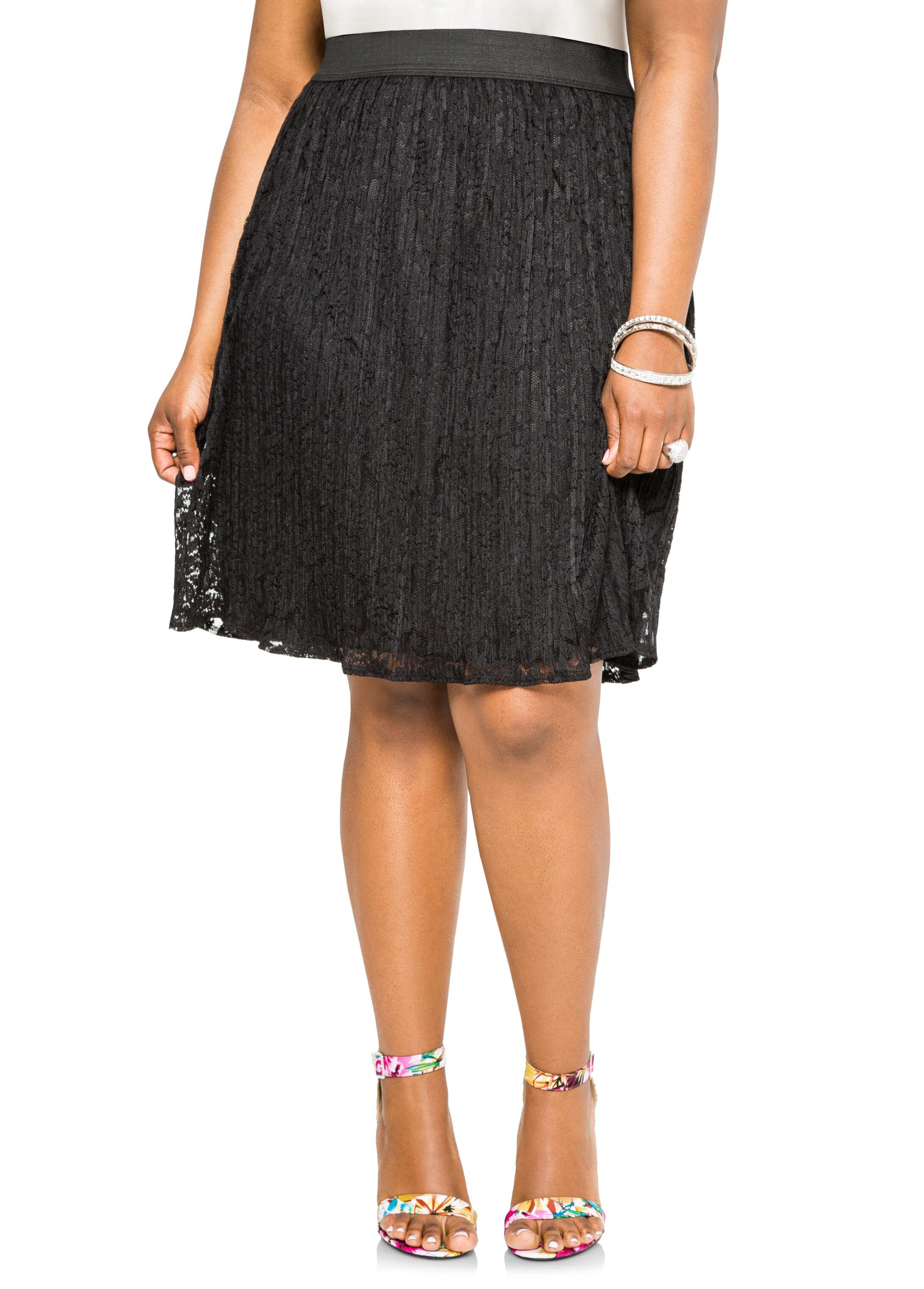Lace Plissé Pleat Skirt