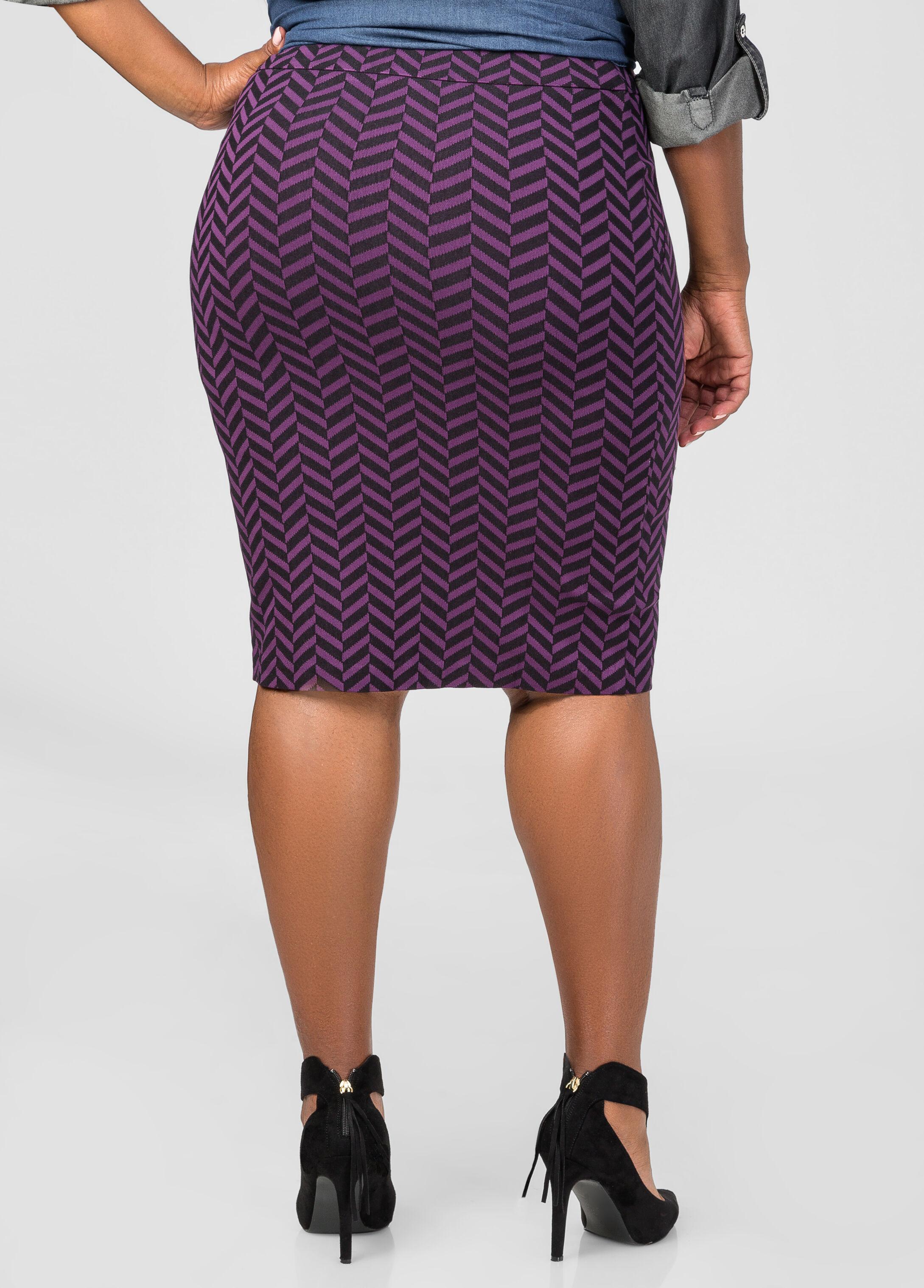 Chevron Pencil Skirt
