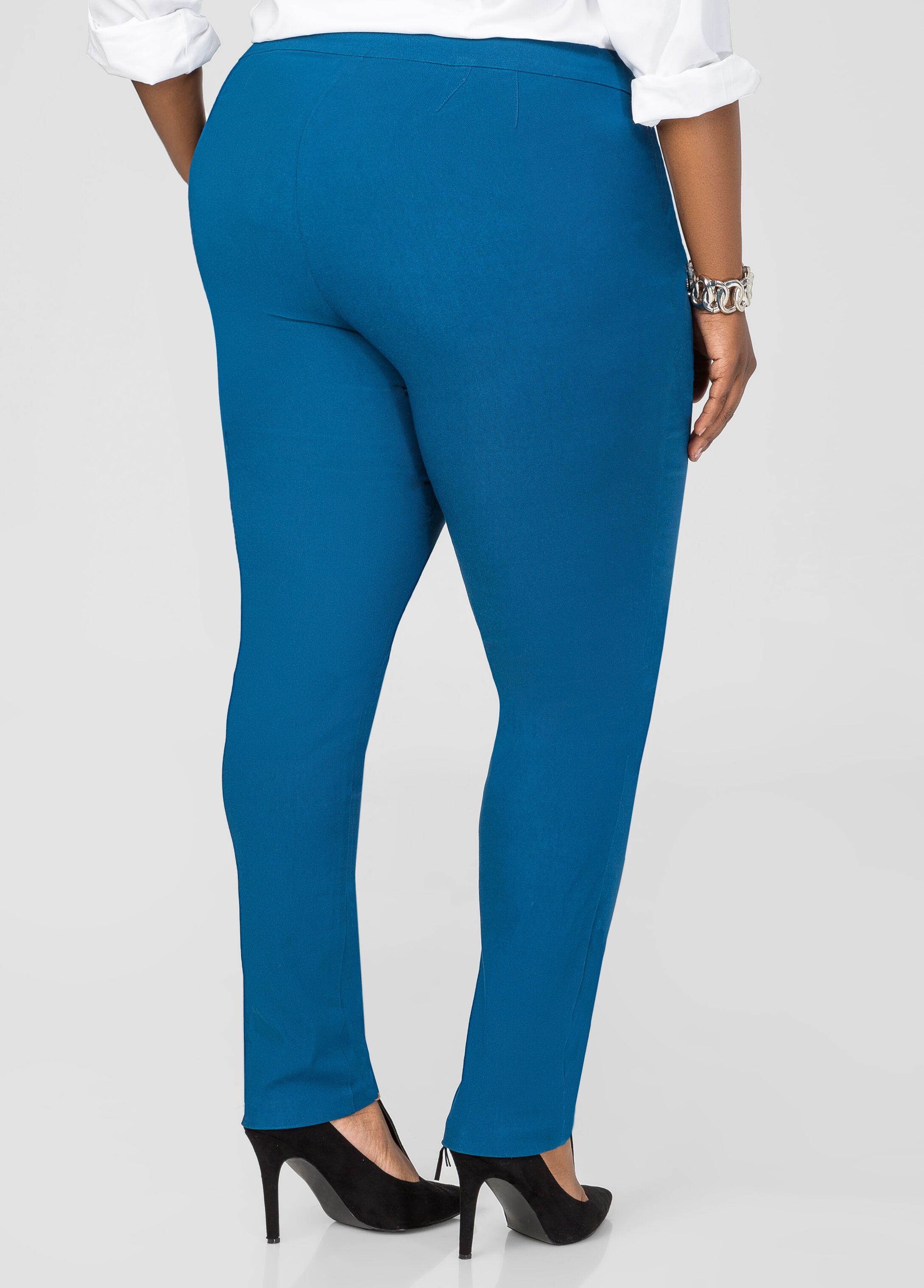 Zip Detail Ultra Stretch Skinny Pant